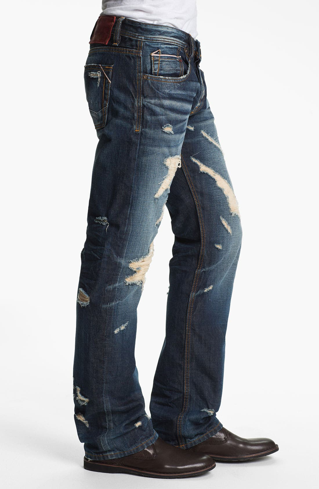 Alternate Image 3  - Cult of Individuality 'Hagen' Relaxed Straight Leg Jeans (15 Year Indigo)