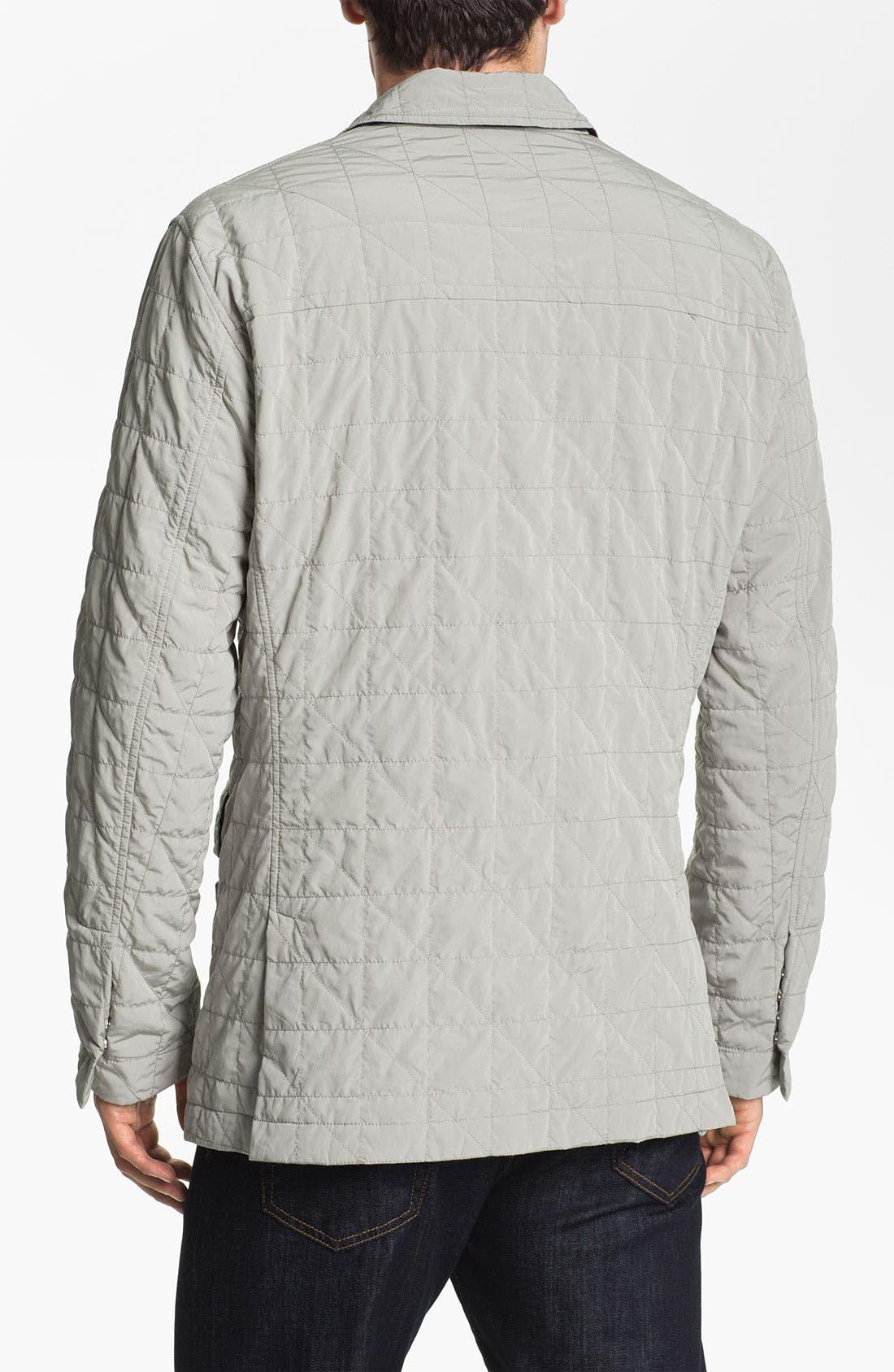Alternate Image 2  - Façonnable Microfiber Quilted Jacket