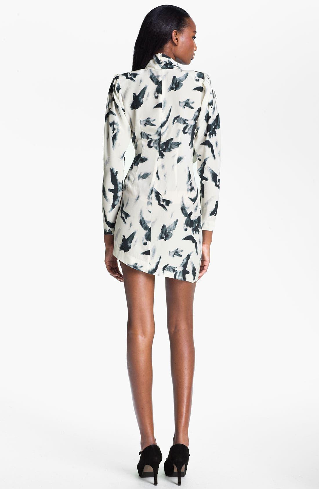 Alternate Image 2  - Skaist-Taylor 'Tippi' Print Asymmetrical Hem Silk Dress