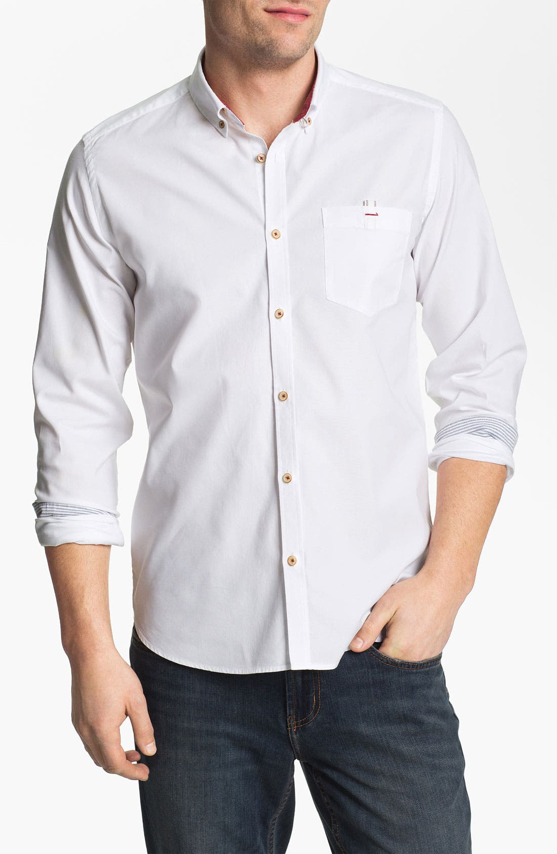 Alternate Image 1 Selected - Ted Baker London 'Oxbid' Trim Fit Sport Shirt