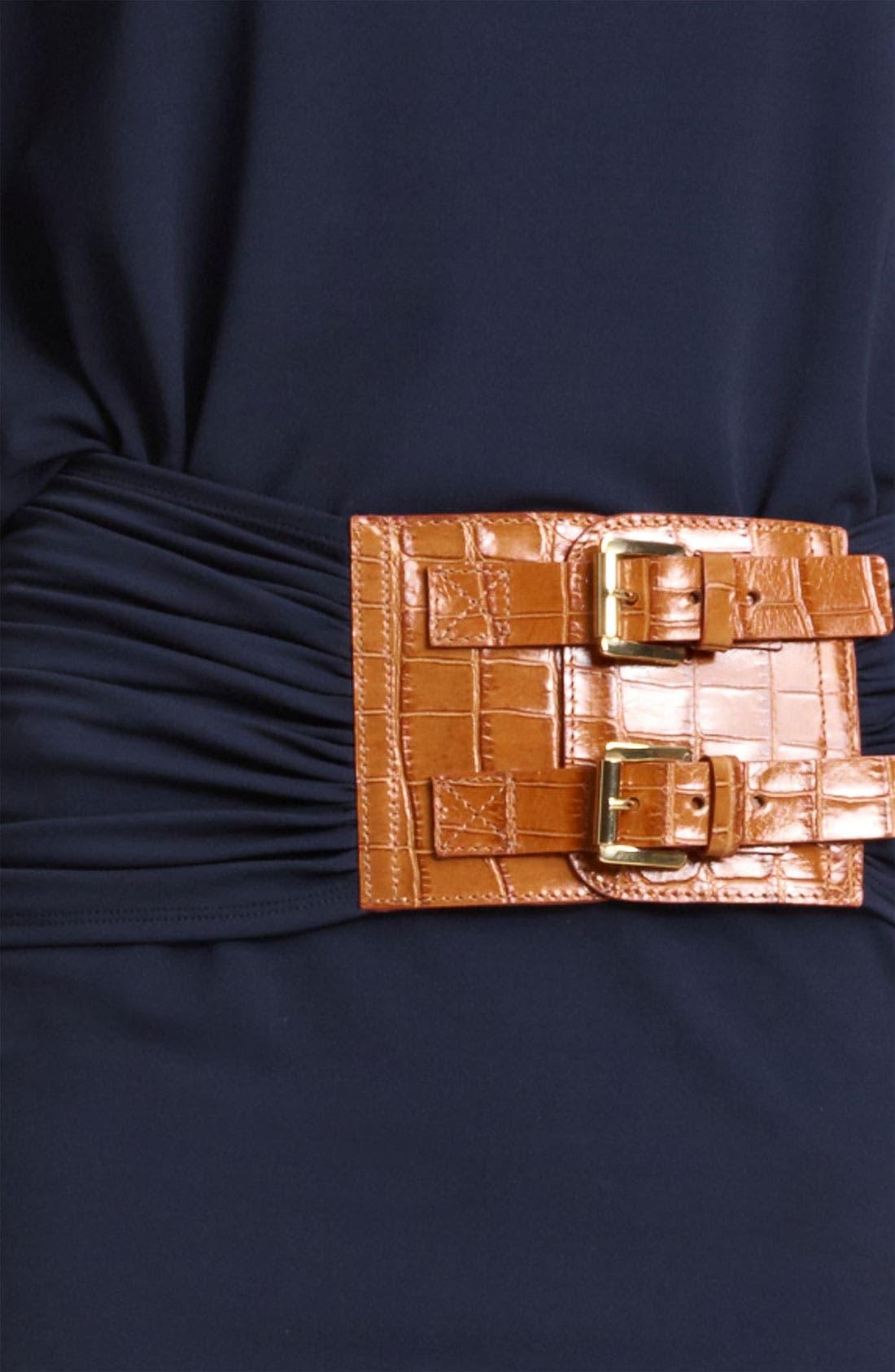 Alternate Image 3  - Michael Kors Flutter Sleeve Matte Jersey Dress
