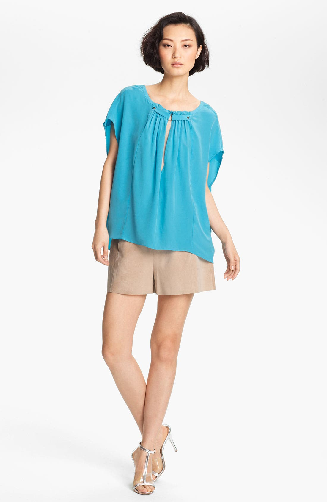Alternate Image 1 Selected - Tracy Reese Silk Peasant Blouse