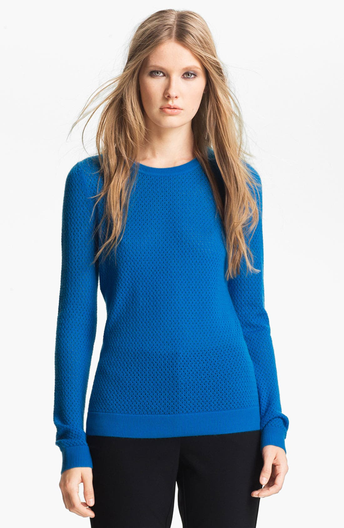 Alternate Image 1 Selected - Miss Wu 'Sofie' Stitch Detail Cashmere Sweater (Nordstrom Exclusive)