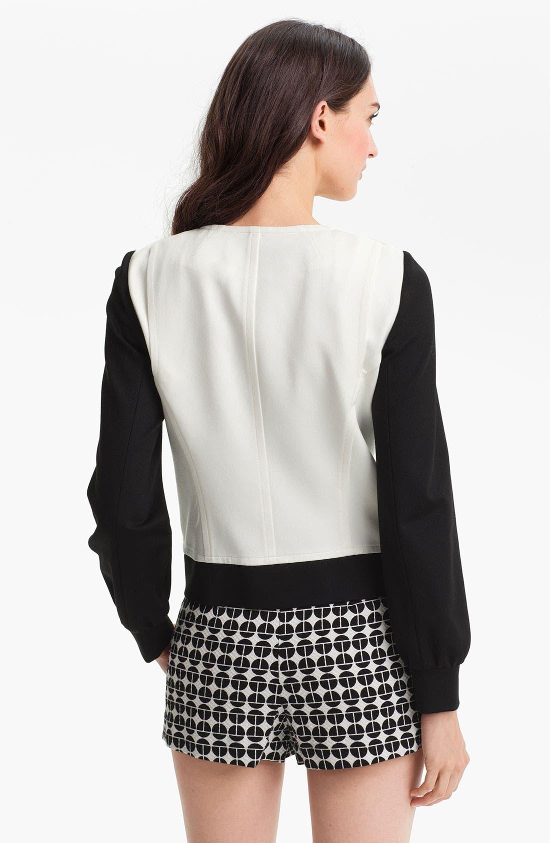 Alternate Image 2  - Trina Turk 'Slugger' Collarless Zip Jacket