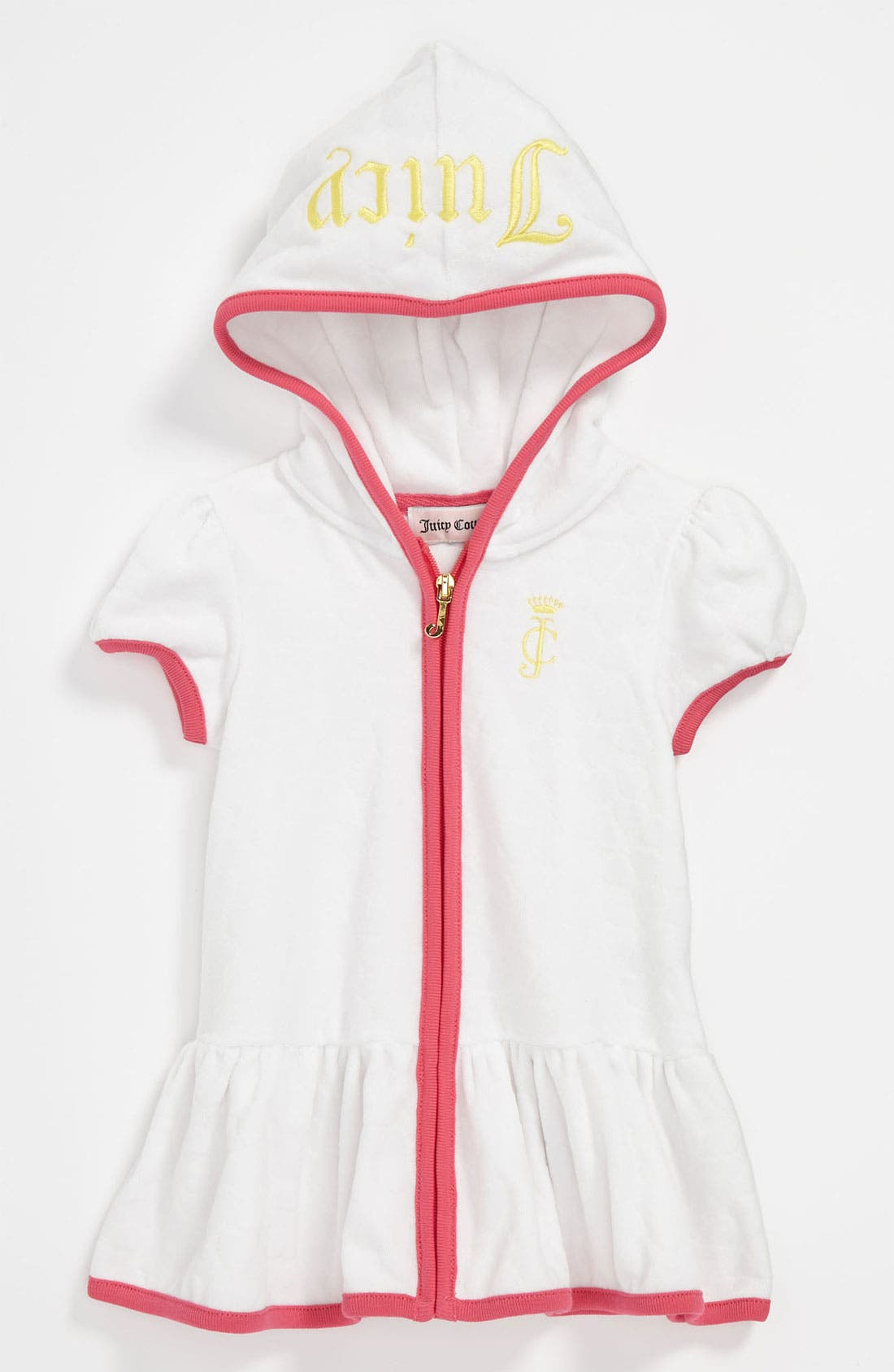 Main Image - Juicy Couture Terry Hooded Swim Cover-Up (Infant)