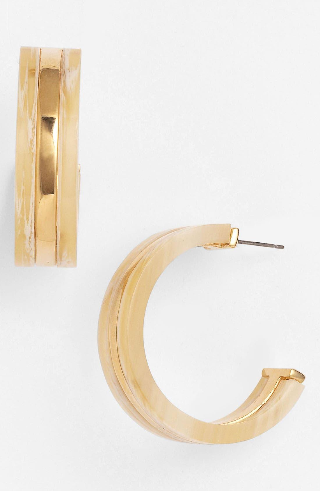 Main Image - Tory Burch 'Wyatt' Hoop Earrings