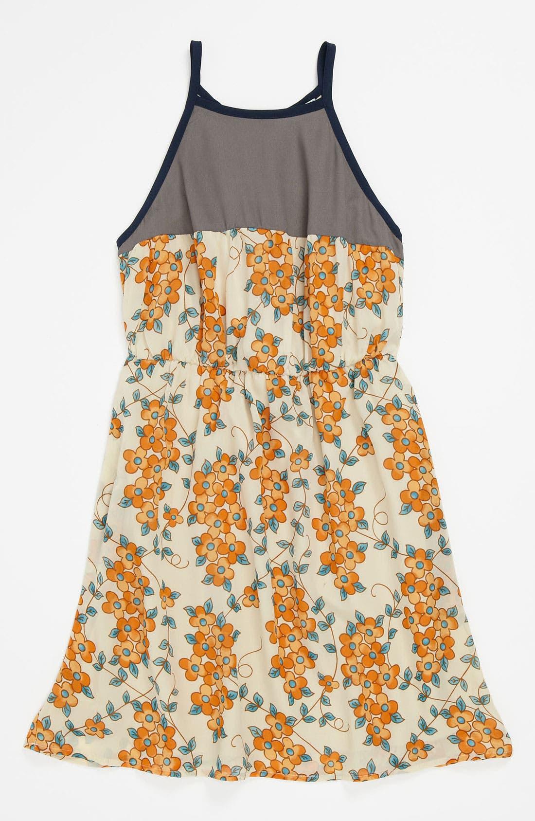 Alternate Image 1 Selected - Mia Chica Print Dress (Little Girls & Big Girls)