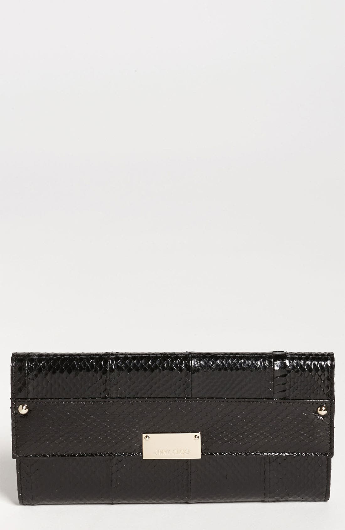 Alternate Image 1 Selected - Jimmy Choo 'Reese' Genuine Snakeskin Clutch