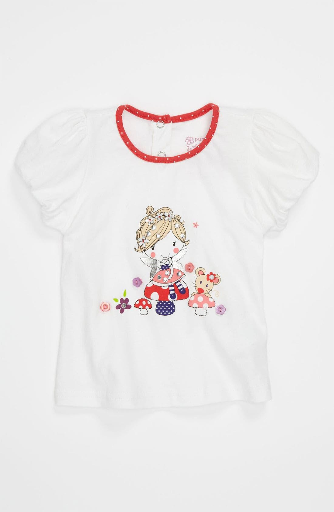 Main Image - Pumpkin Patch 'Mushroom' Bubble Sleeve Top (Infant)
