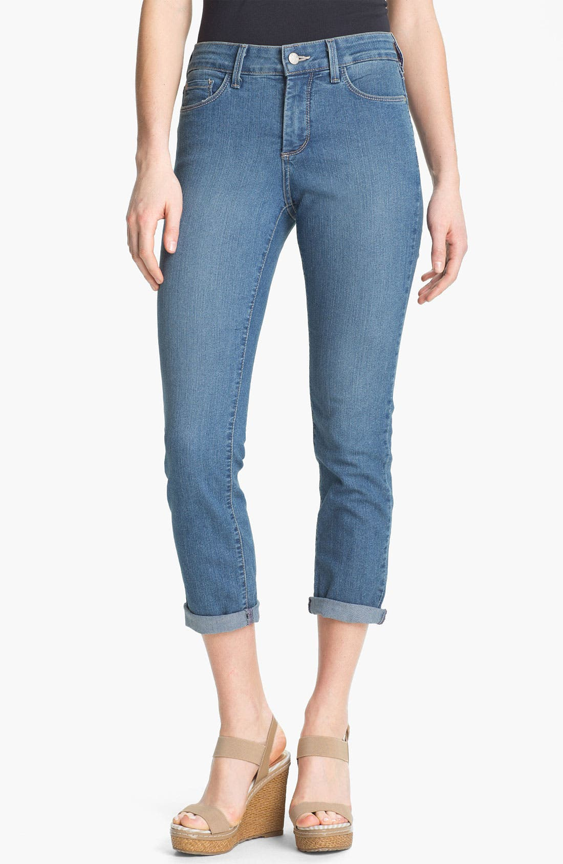 Alternate Image 1 Selected - NYDJ 'Tanya' Cuffed Stretch Boyfriend Jeans (Petite)