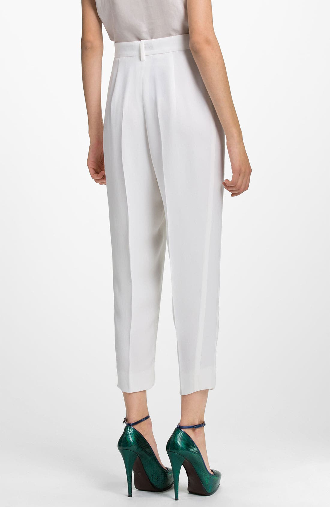 Alternate Image 2  - Lanvin Silk Crepe Crop Pants
