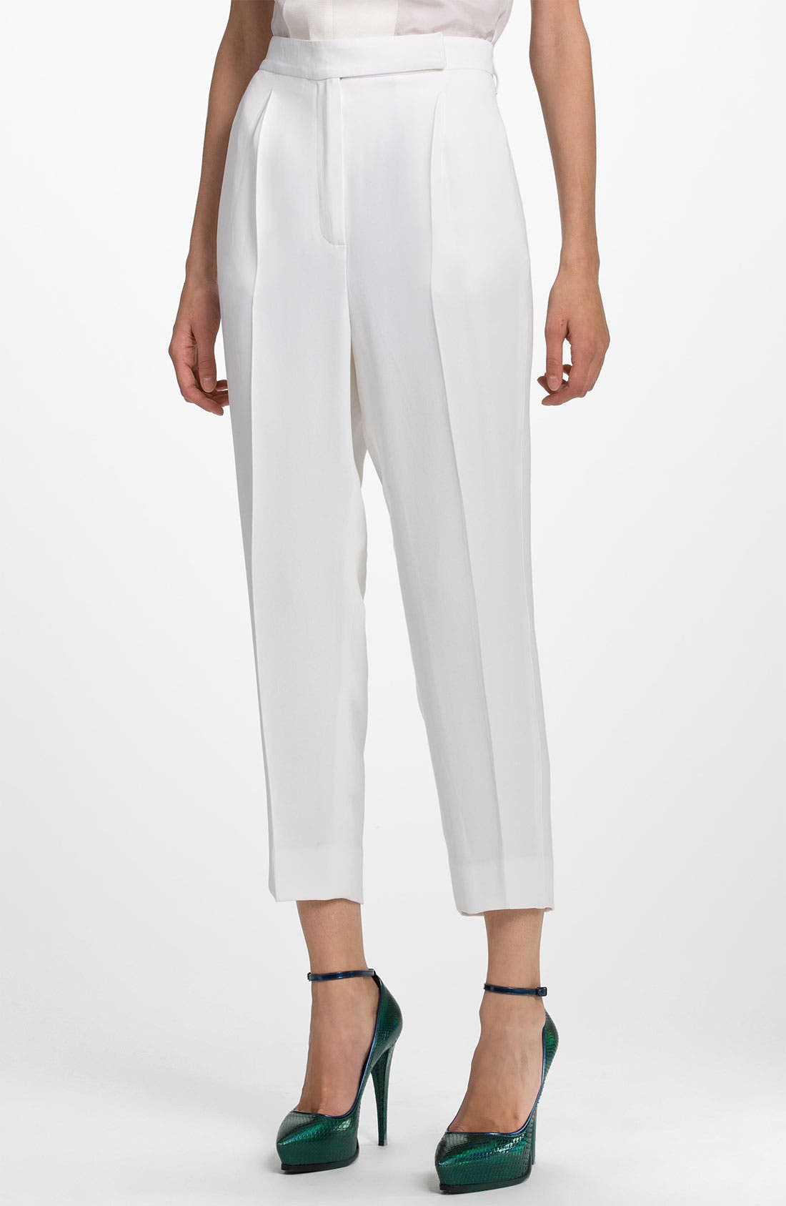 Alternate Image 1 Selected - Lanvin Silk Crepe Crop Pants