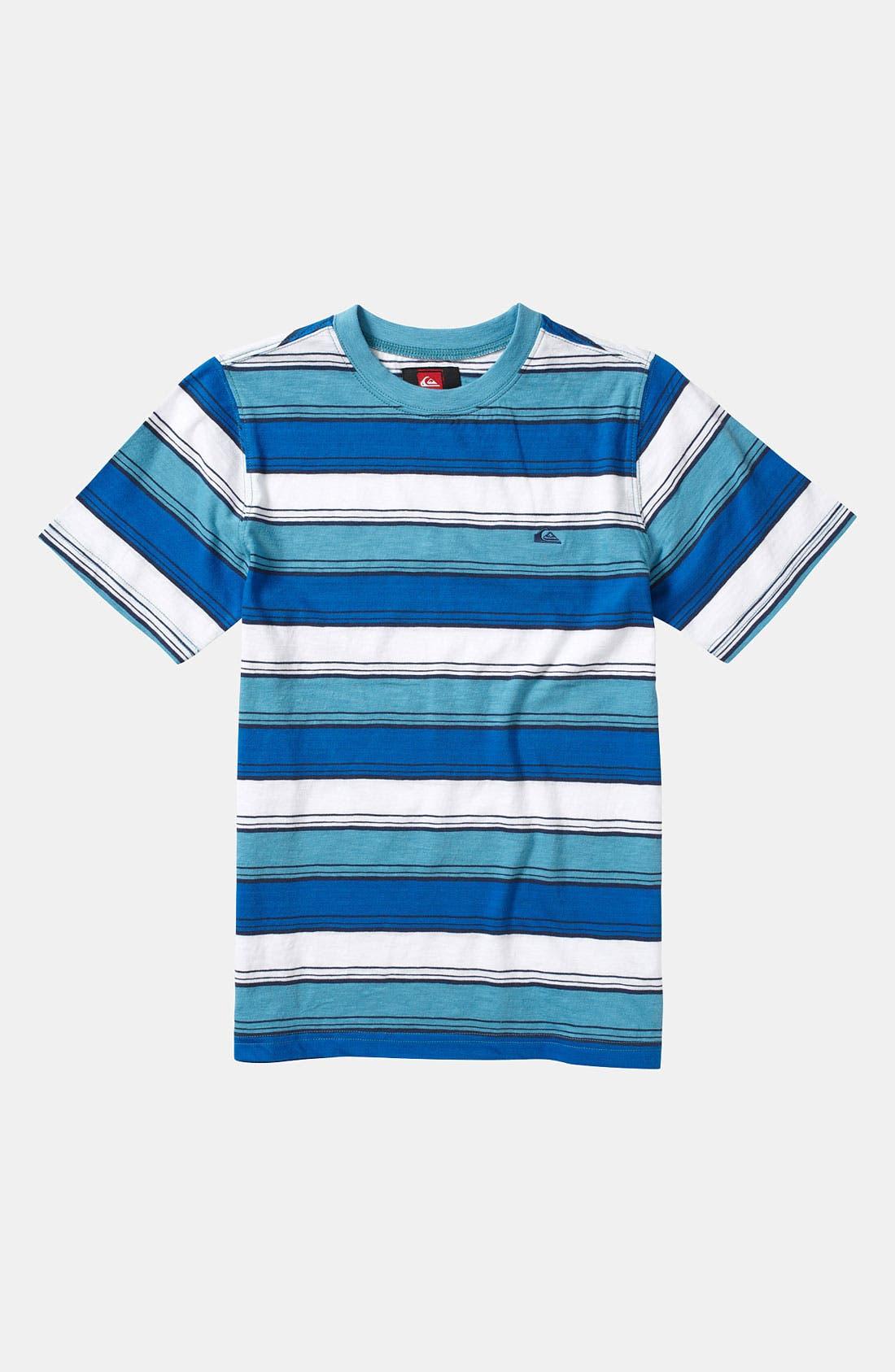 Alternate Image 1 Selected - Quiksilver 'Downside' Stripe Shirt (Toddler)