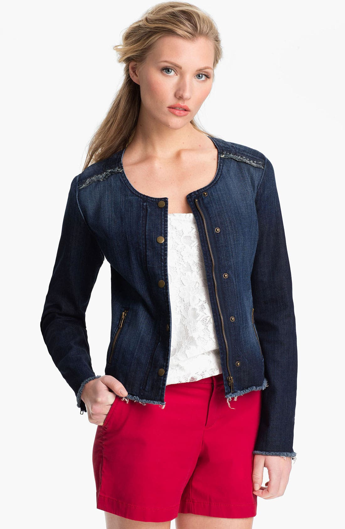 Alternate Image 1 Selected - Lucky Brand 'Adamson' Denim Jacket