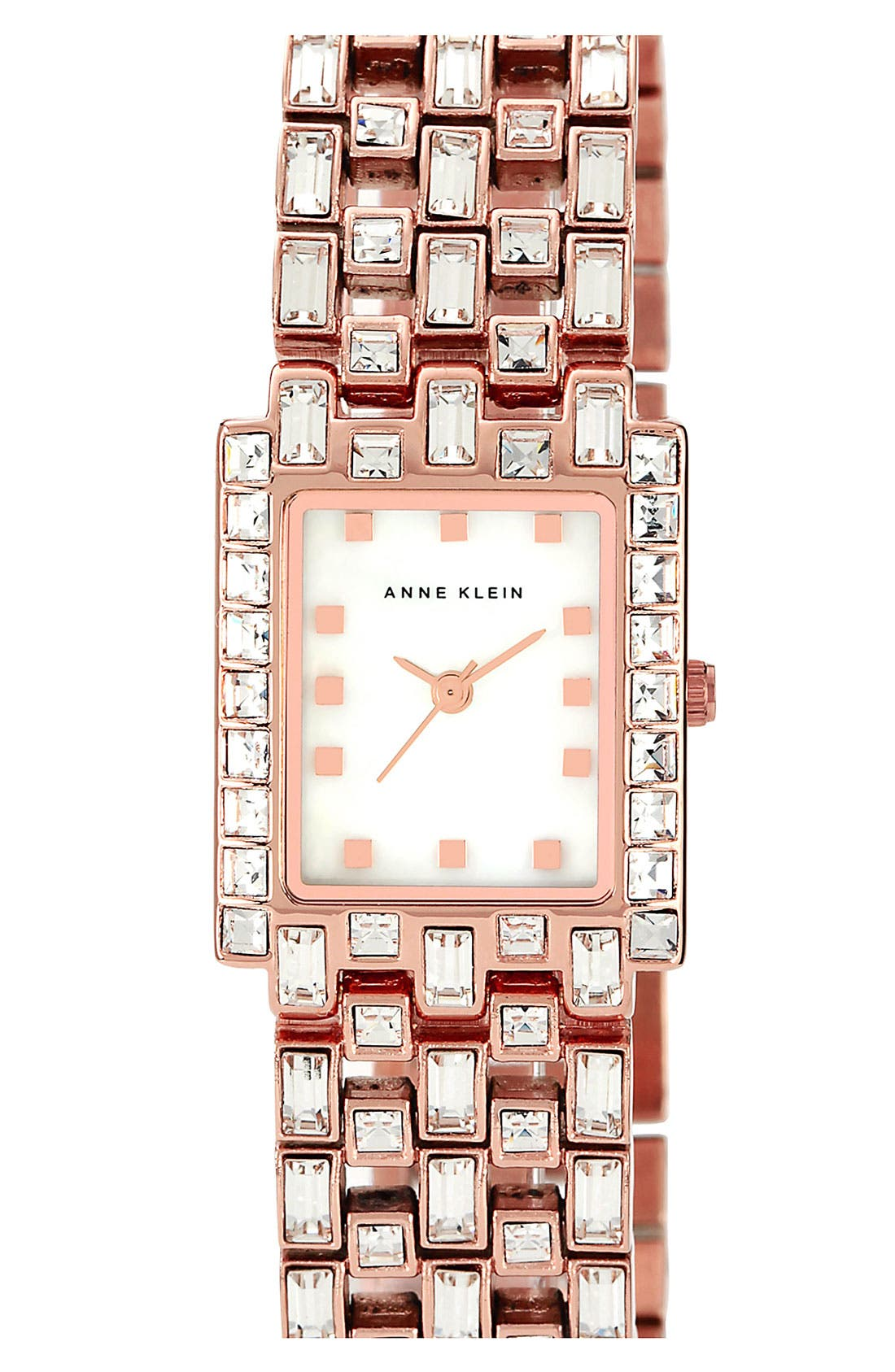 Alternate Image 1 Selected - Anne Klein Rectangular Bracelet Watch