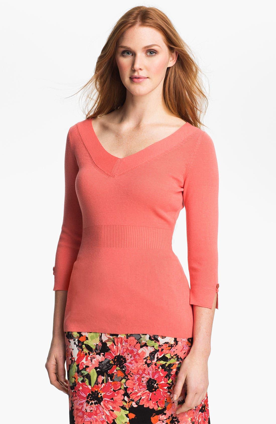 Alternate Image 1 Selected - Nic + Zoe V-Neck Sweater