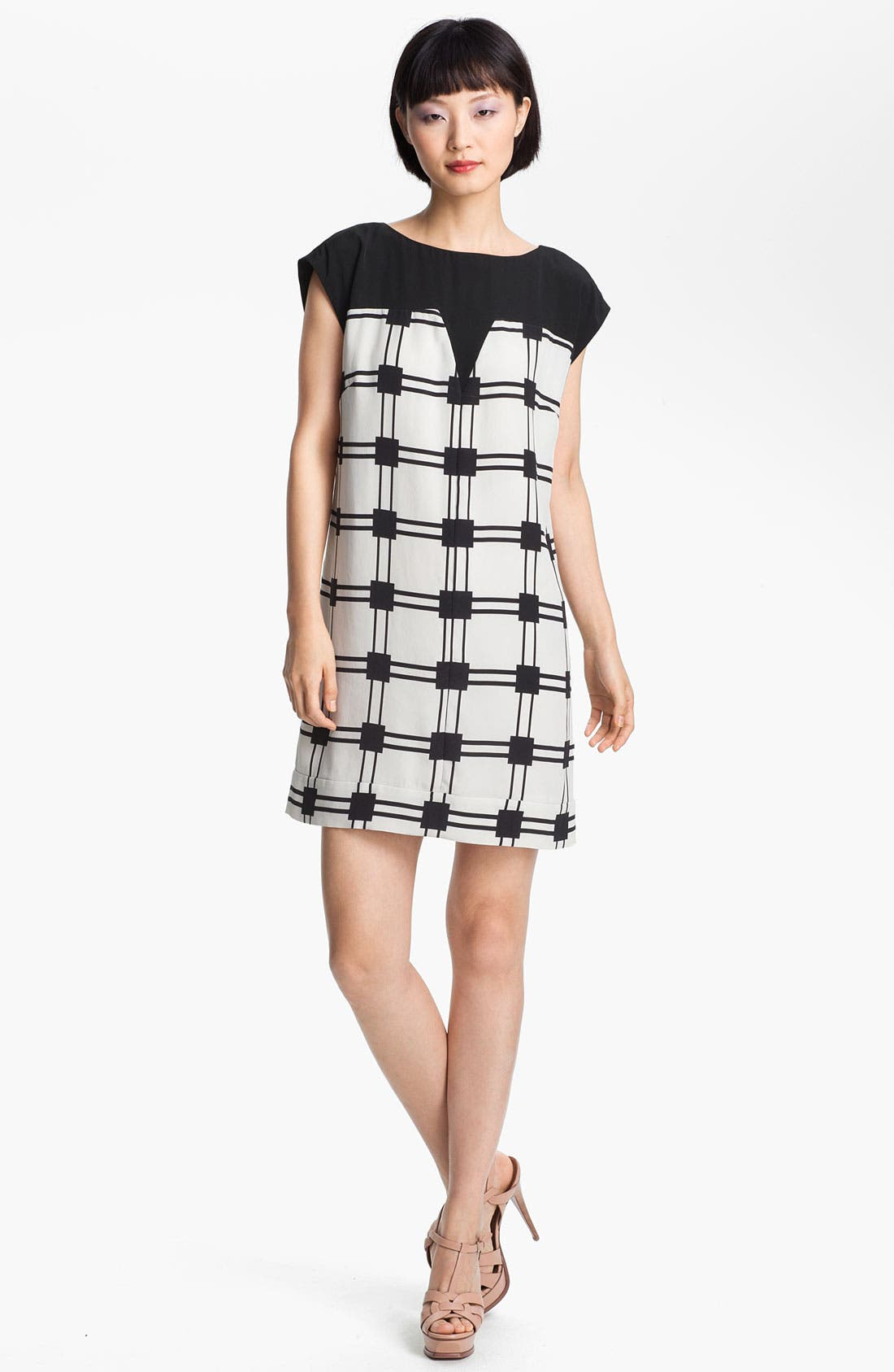 Main Image - Tibi 'Marcel' Check Shift Dress