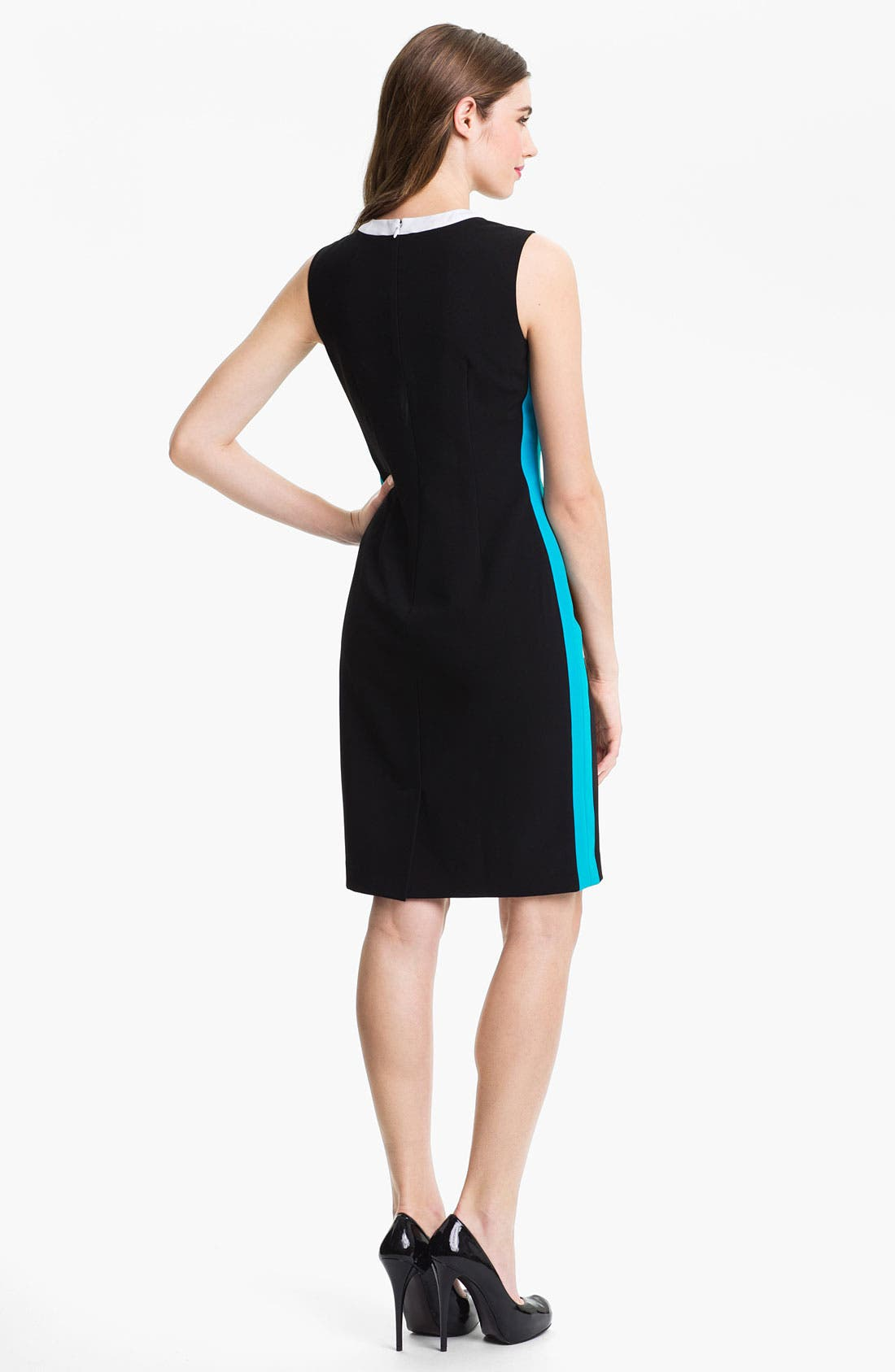 Alternate Image 2  - Calvin Klein Contrast Trim Sheath Dress