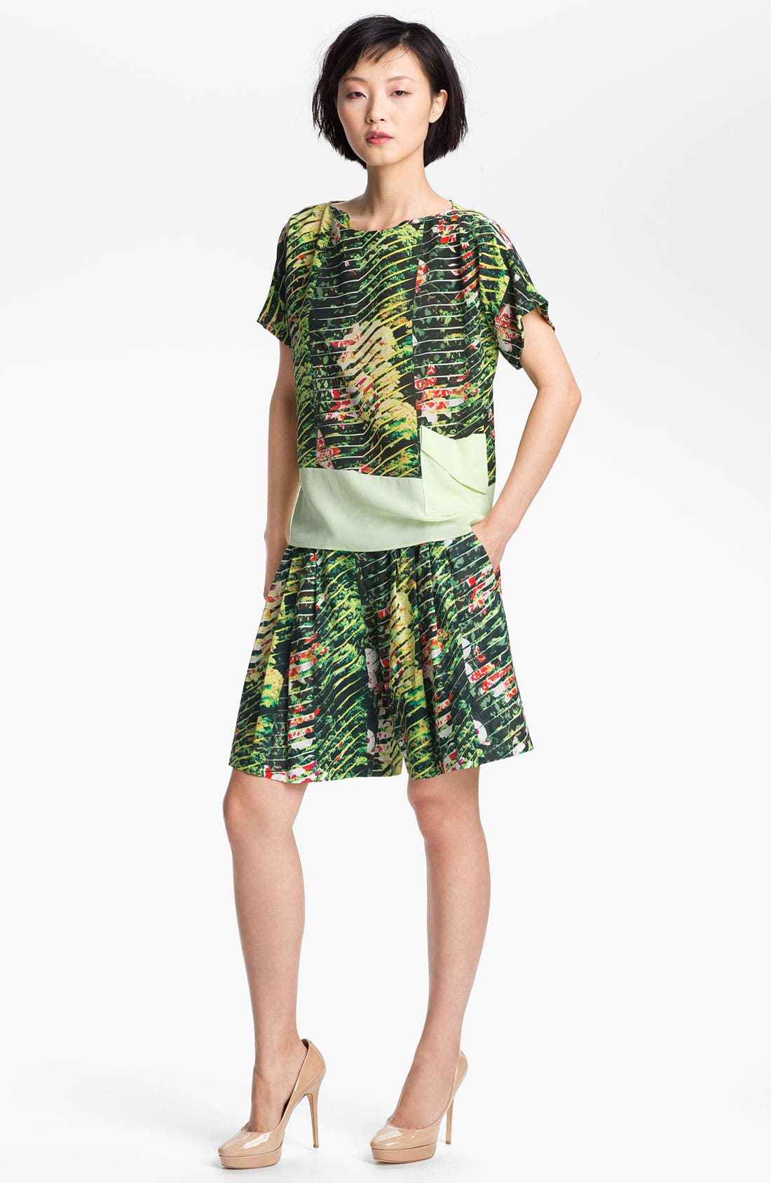 Alternate Image 1 Selected - KENZO Orchid Print Crepe Top