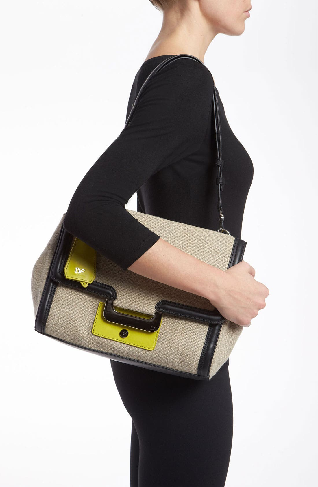 Alternate Image 2  - Diane von Furstenberg 'New Harper' Linen Shoulder Bag