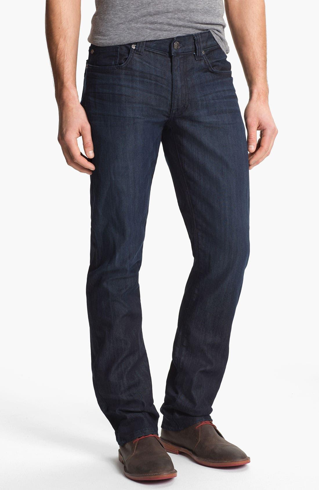 Alternate Image 1 Selected - Fidelity Denim 'Impala' Straight Leg Jeans (Varsity Dark)