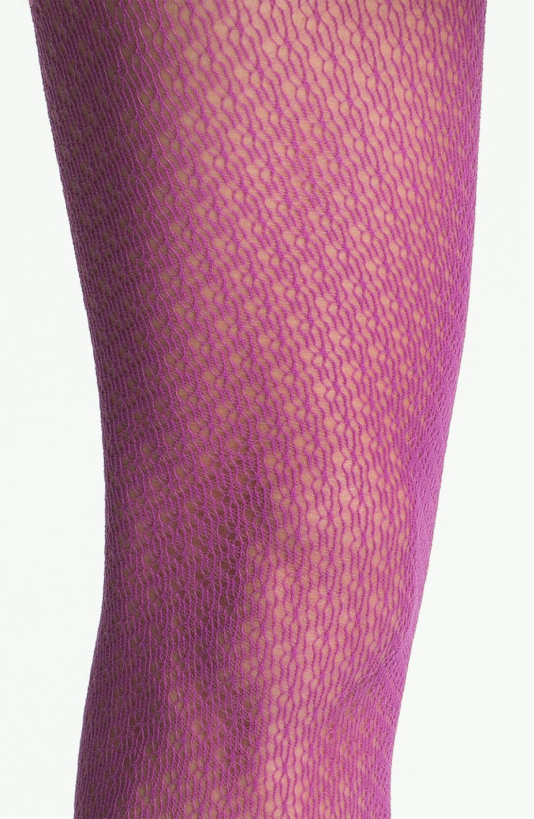 Alternate Image 2  - Nordstrom Crochet Diamond Tights