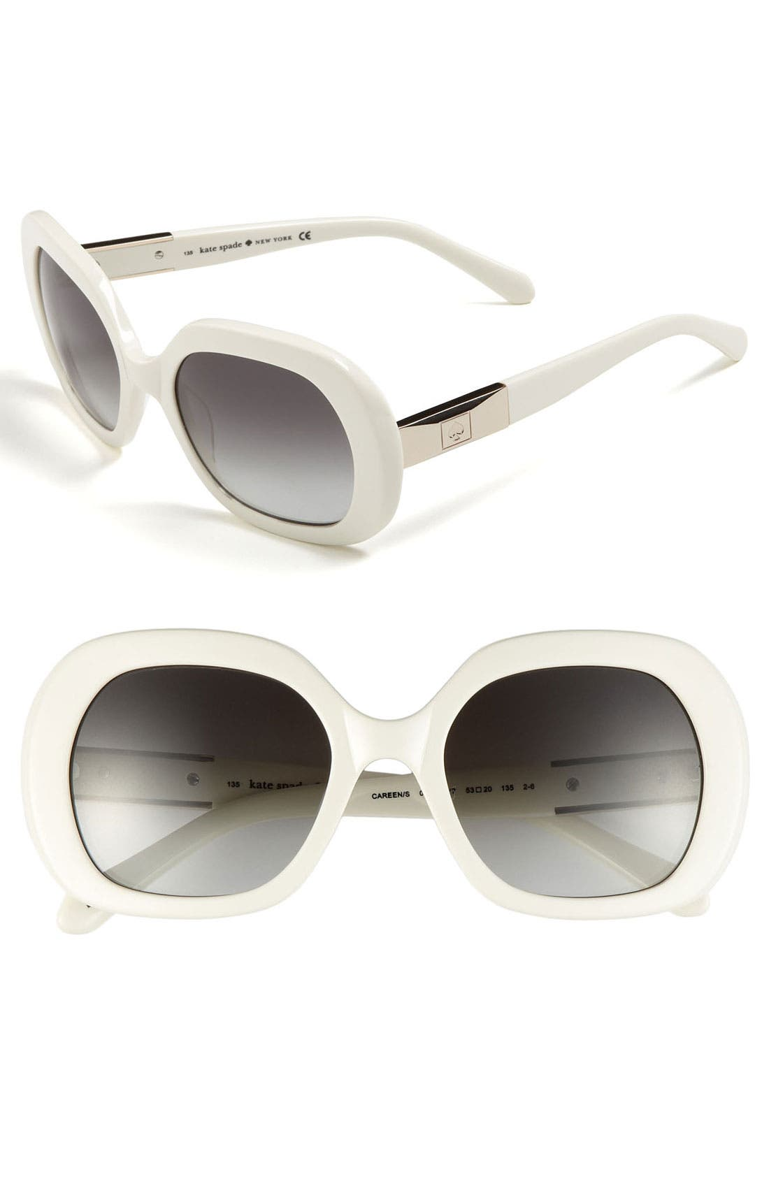 Alternate Image 1 Selected - kate spade new york 'careen' 53mm sunglasses