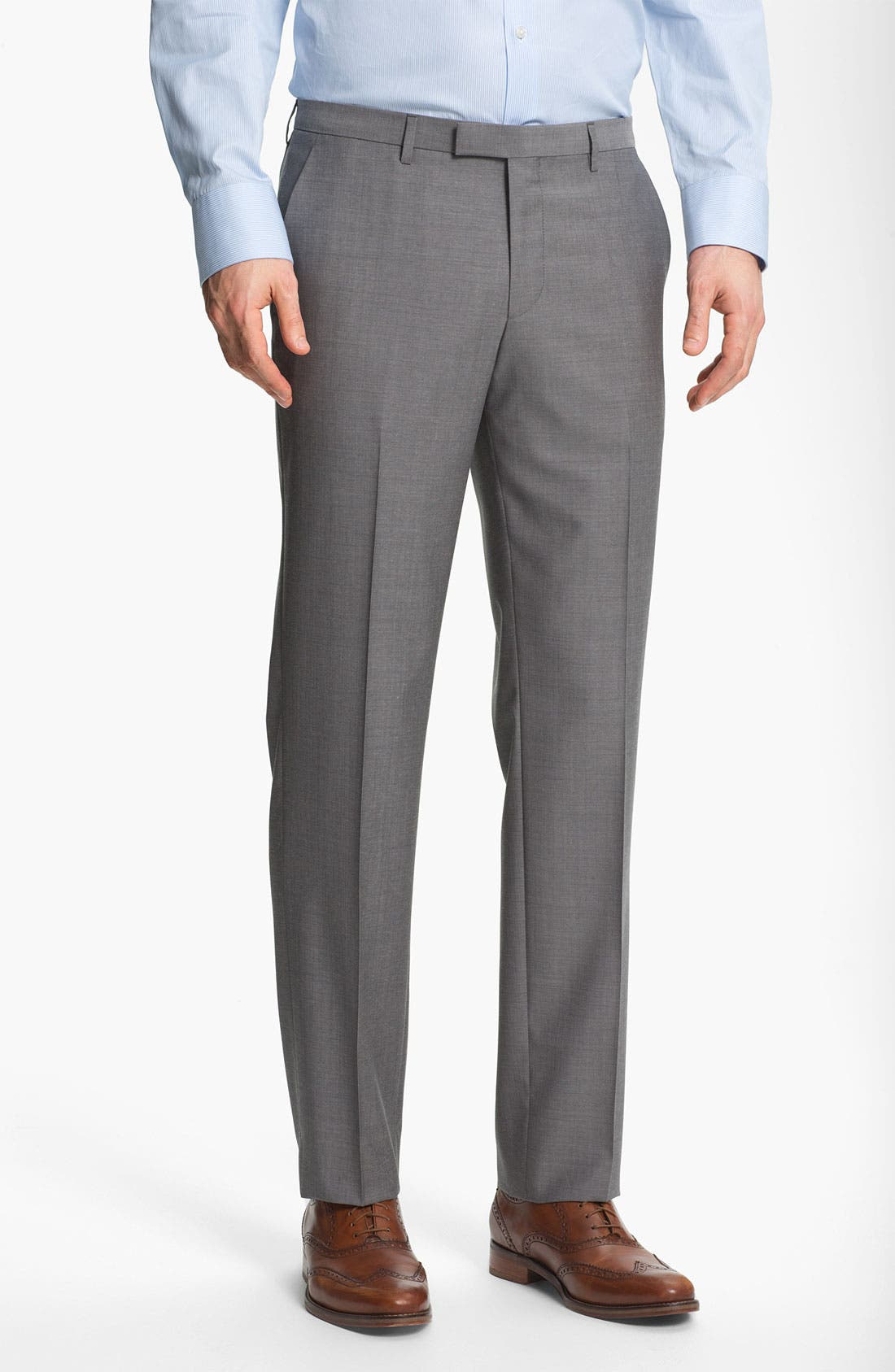 Alternate Image 4  - BOSS HUGO BOSS 'James/Sharp' Trim Fit Wool Suit