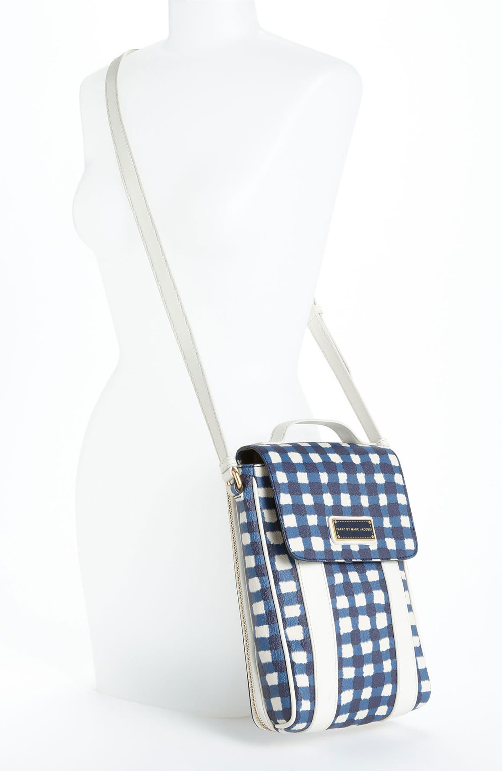 MARC BY MARC JACOBS \'Marc\'d & Check\'d\' Print Tablet Crossbody Bag ...