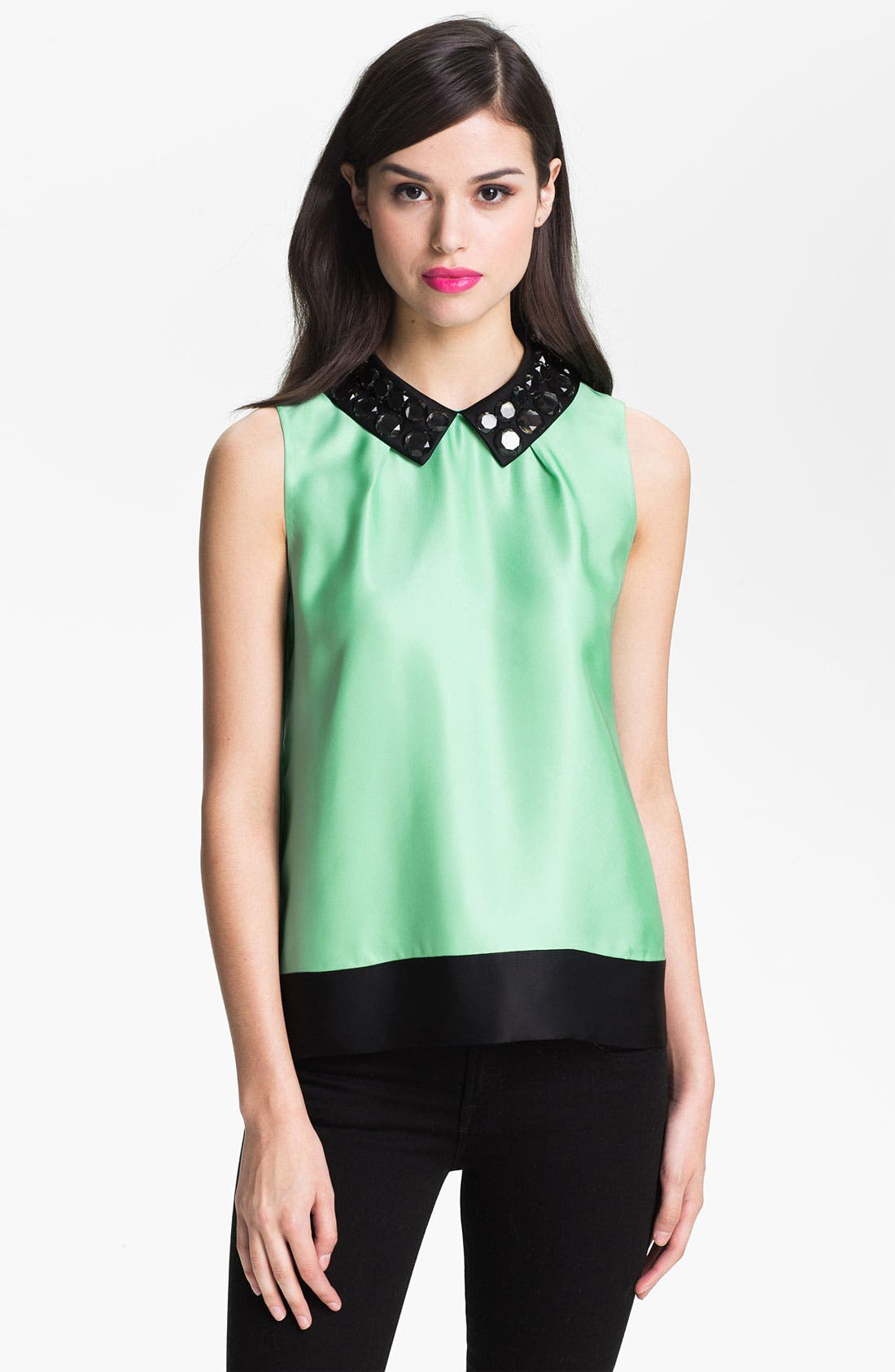 Main Image - kate spade new york 'harlow' embellished top