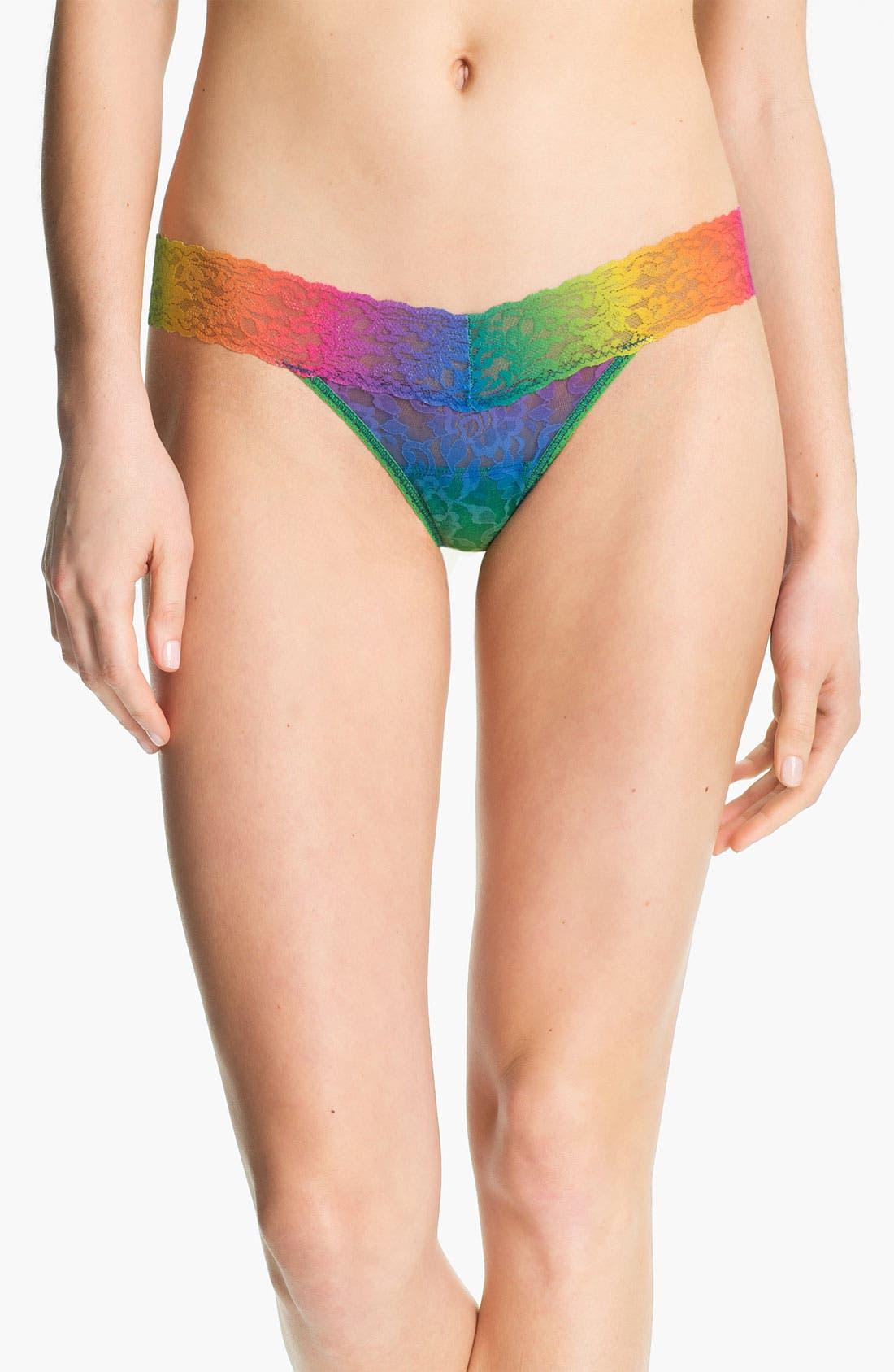 Alternate Image 1 Selected - Hanky Panky 'Rainbow' Low Rise Thong