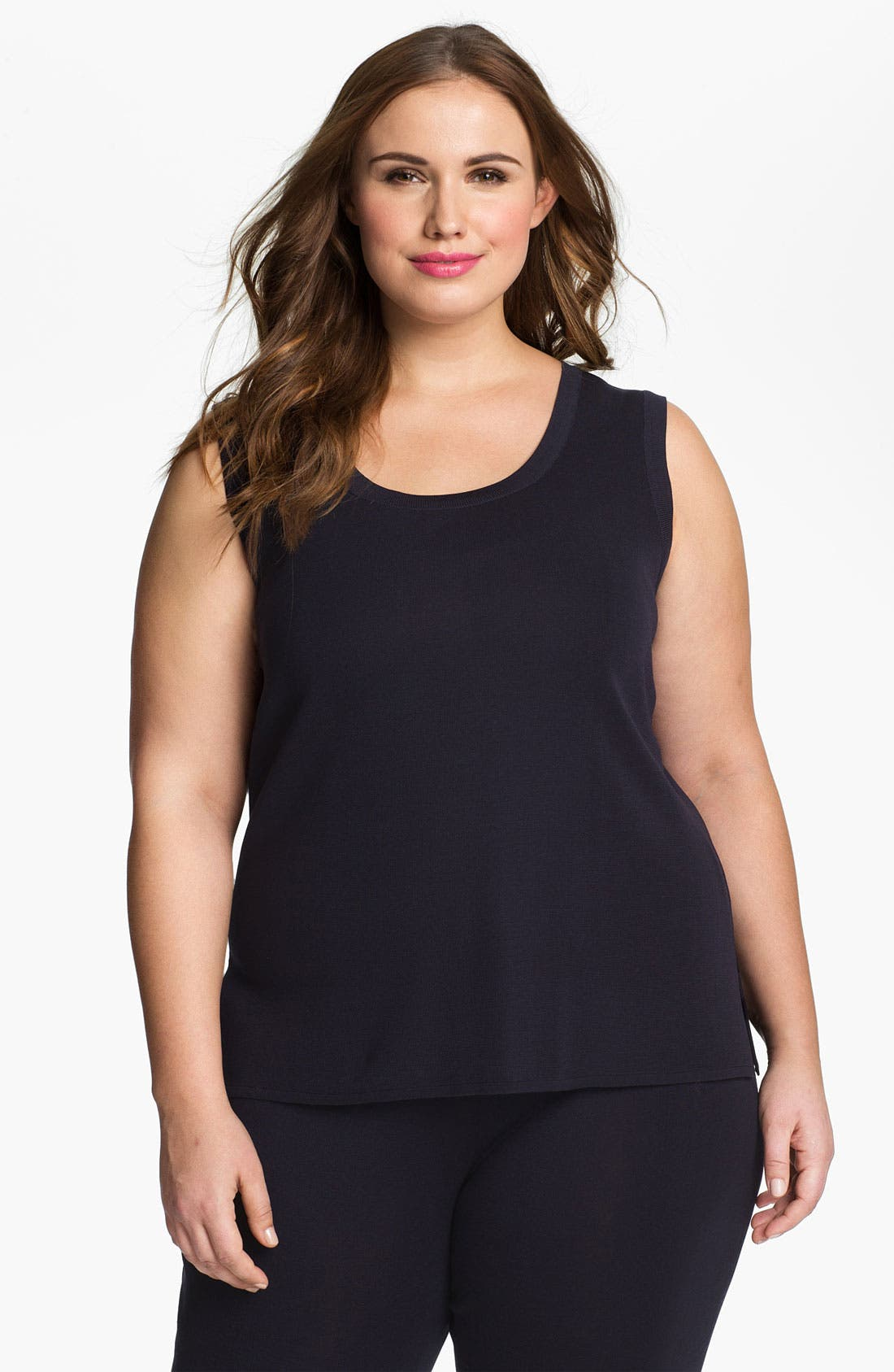 Alternate Image 1 Selected - Misook Scoop Neck Tank (Plus Size)