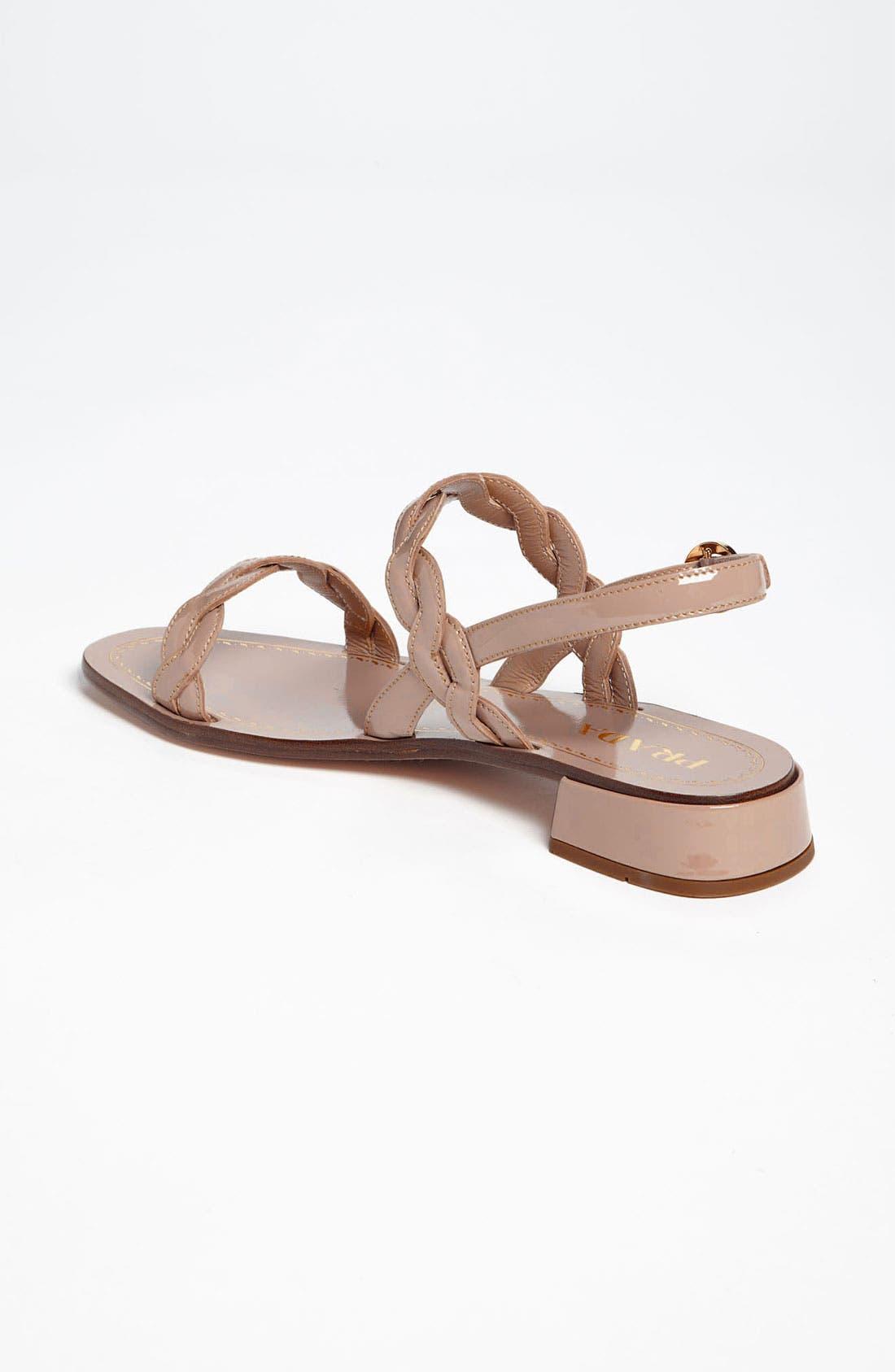 Alternate Image 2  - Prada Braided Two Strap Sandal