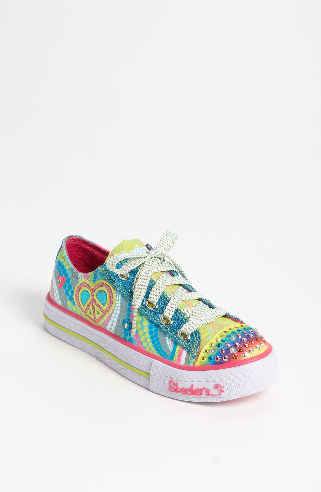 Main Image - SKECHERS 'Shuffles - Lights Heart Sparks' Sneaker (Toddler & Little Kid)