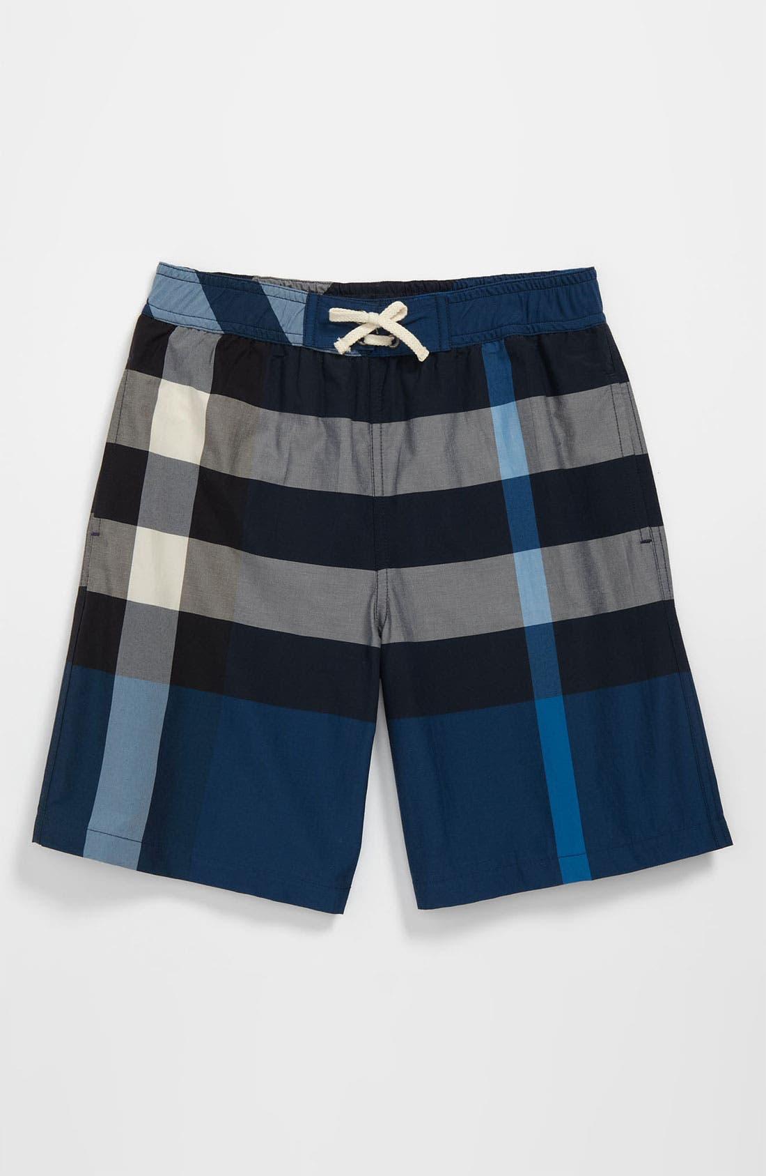 Main Image - Burberry 'Mini Jeffries' Swim Shorts (Little Boys & Big Boys)