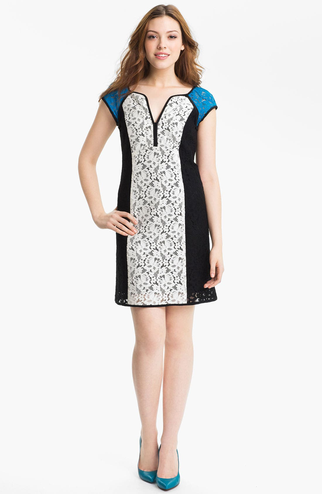 Alternate Image 1 Selected - Nanette Lepore 'Magic Moment' Cotton Blend Shift Dress
