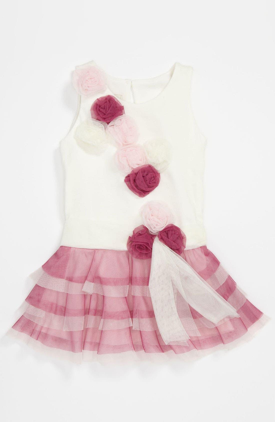 Main Image - Isobella & Chloe Cotton & Tulle Dress (Baby)