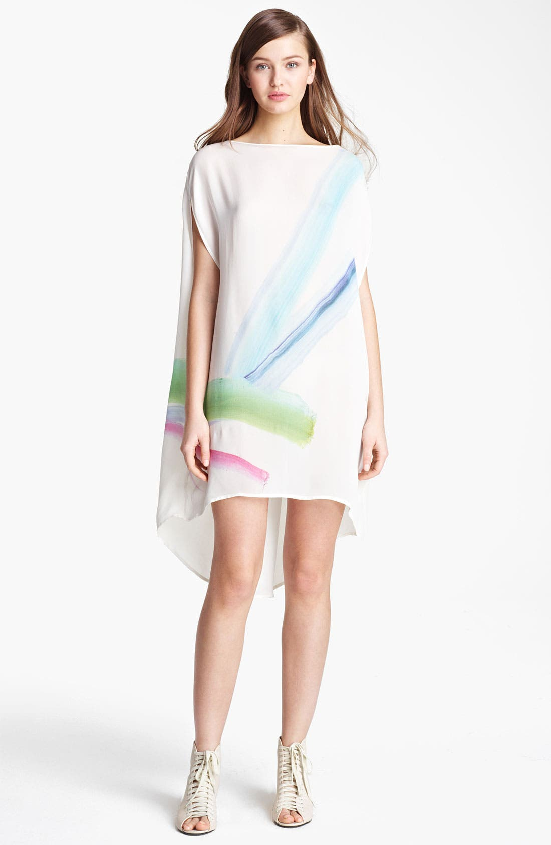 Alternate Image 1 Selected - Band of Outsiders 'War Paint' Double Georgette Dress
