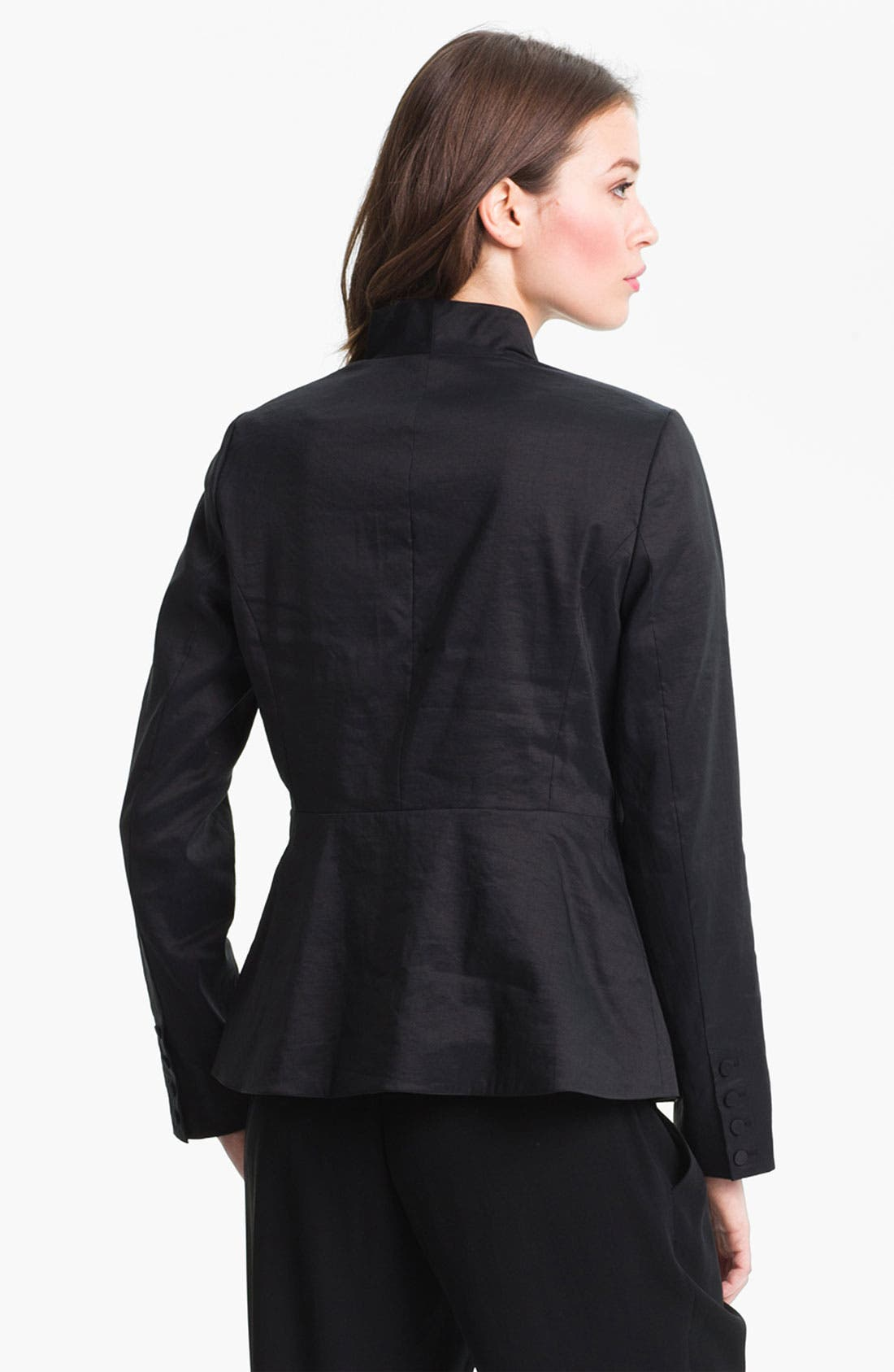 Alternate Image 2  - Eileen Fisher High Collar Peplum Jacket