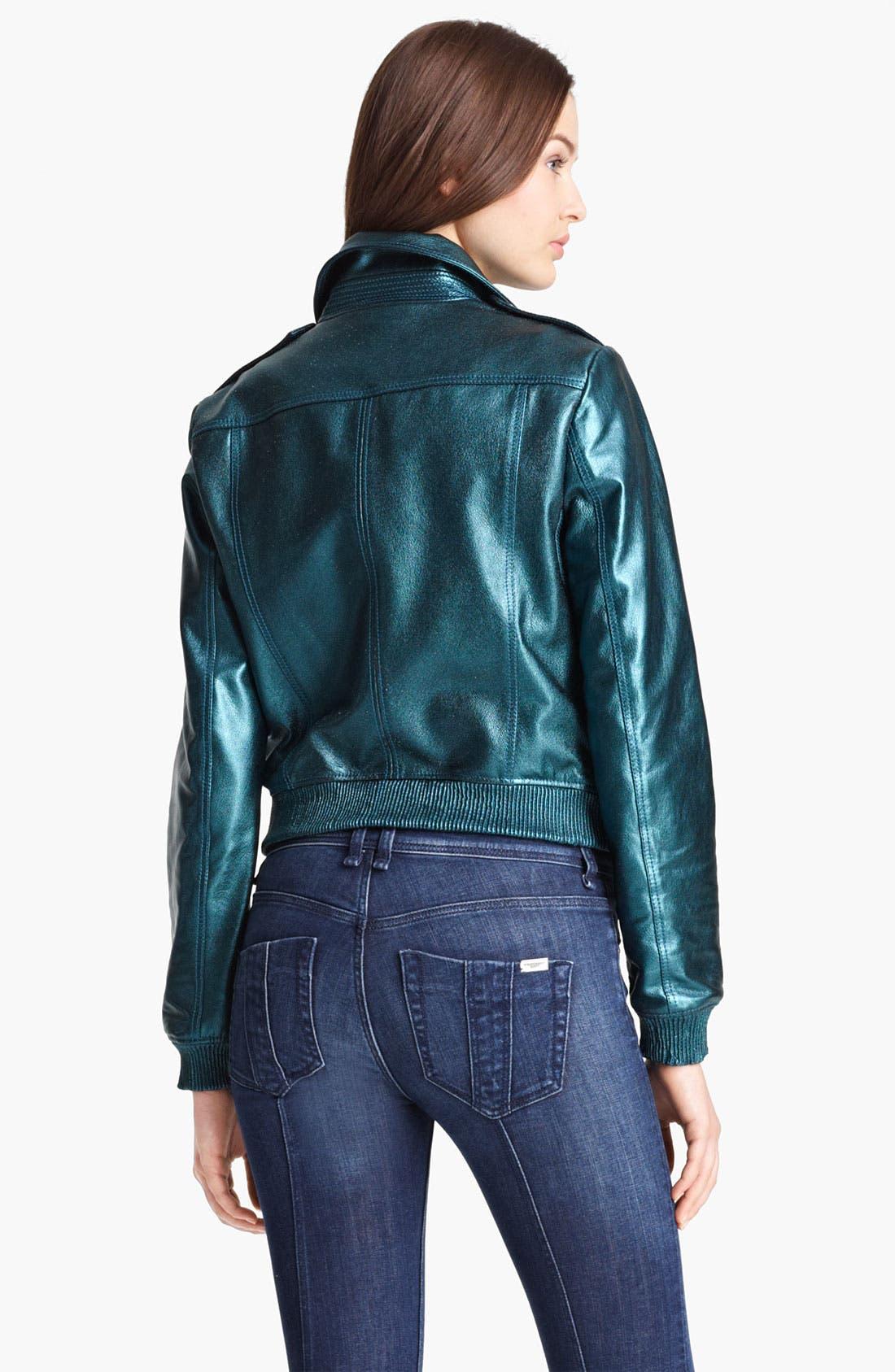 Alternate Image 2  - Burberry Brit 'Stantonbury' Leather Jacket (Online Only)
