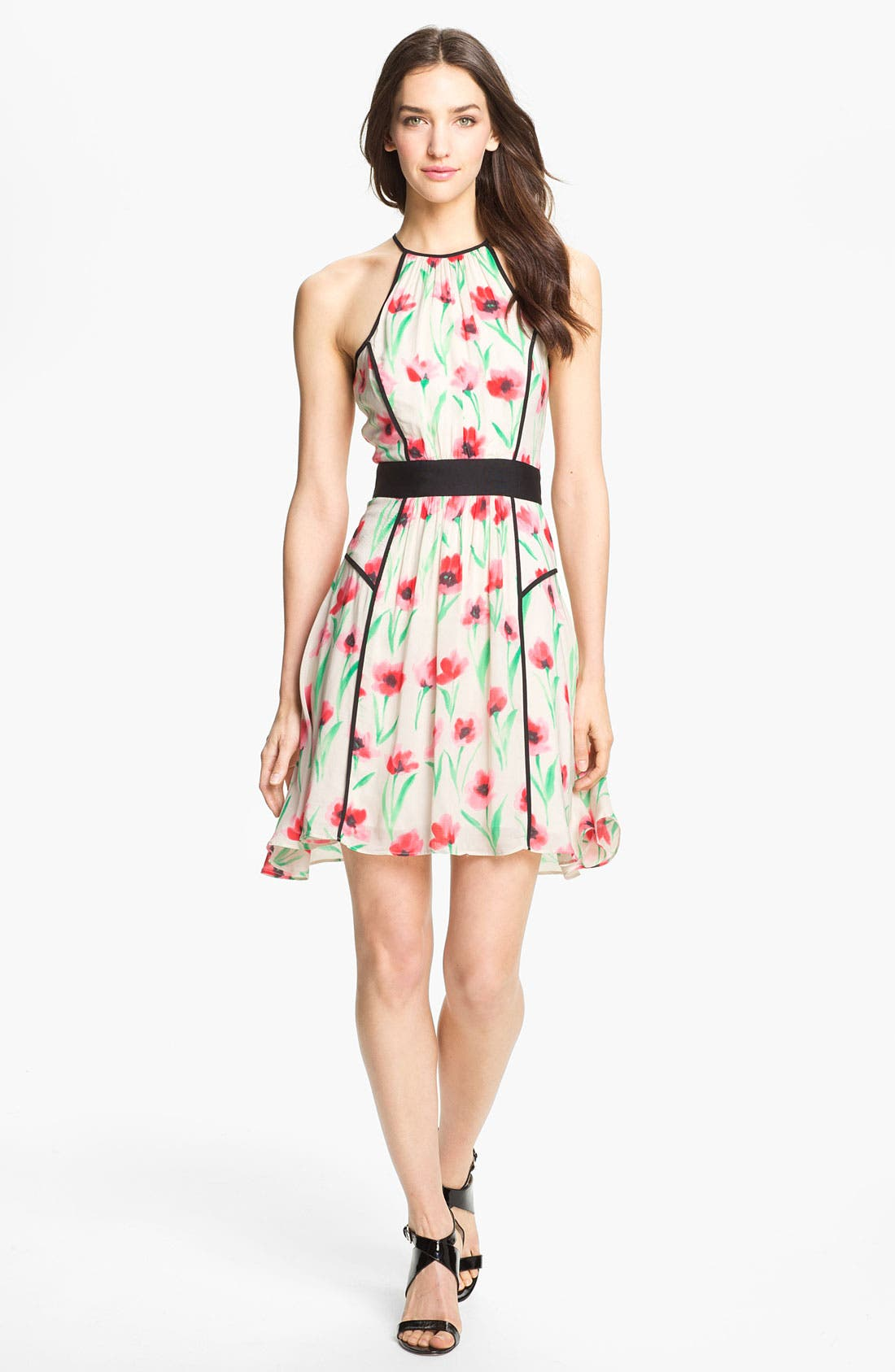 Alternate Image 1 Selected - Milly 'Gillian' Print Fit & Flare Dress