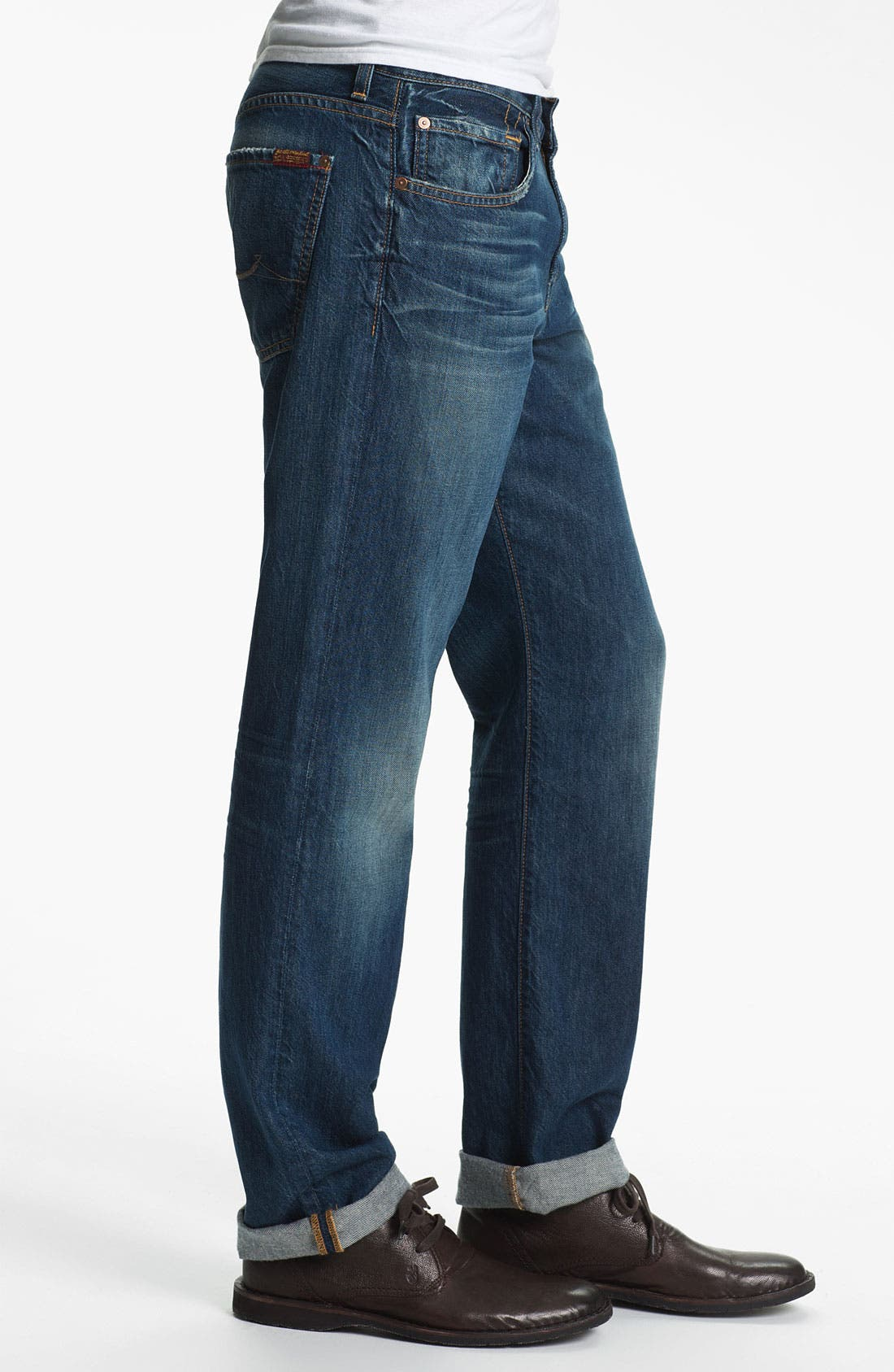 Alternate Image 3  - 7 For All Mankind® 'Carsen' Straight Leg Jeans (Juniper Bay)