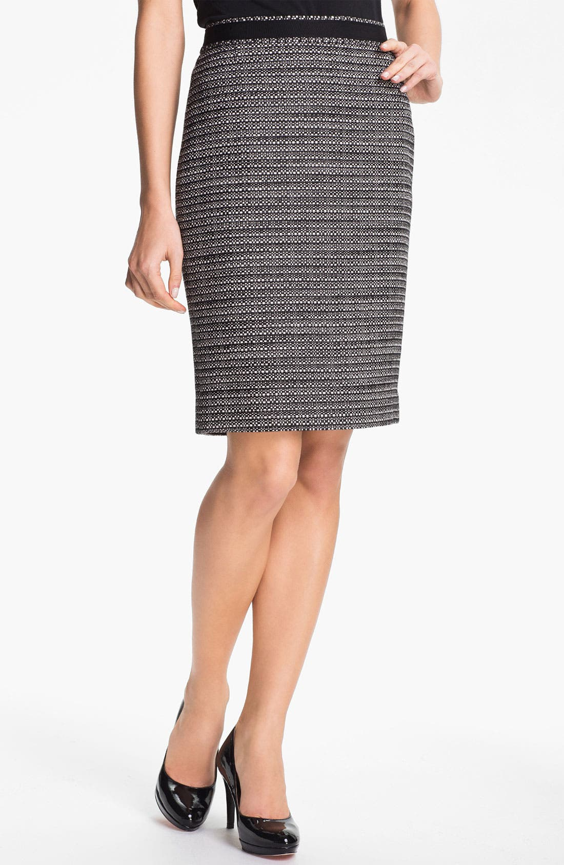 Alternate Image 1 Selected - Classiques Entier® Box Tweed Skirt