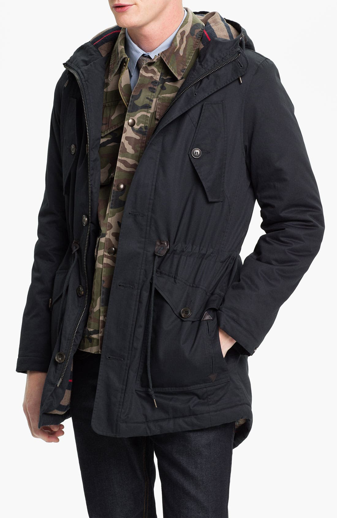 Alternate Image 1 Selected - Topman Blanket Lined Fishtail Parka