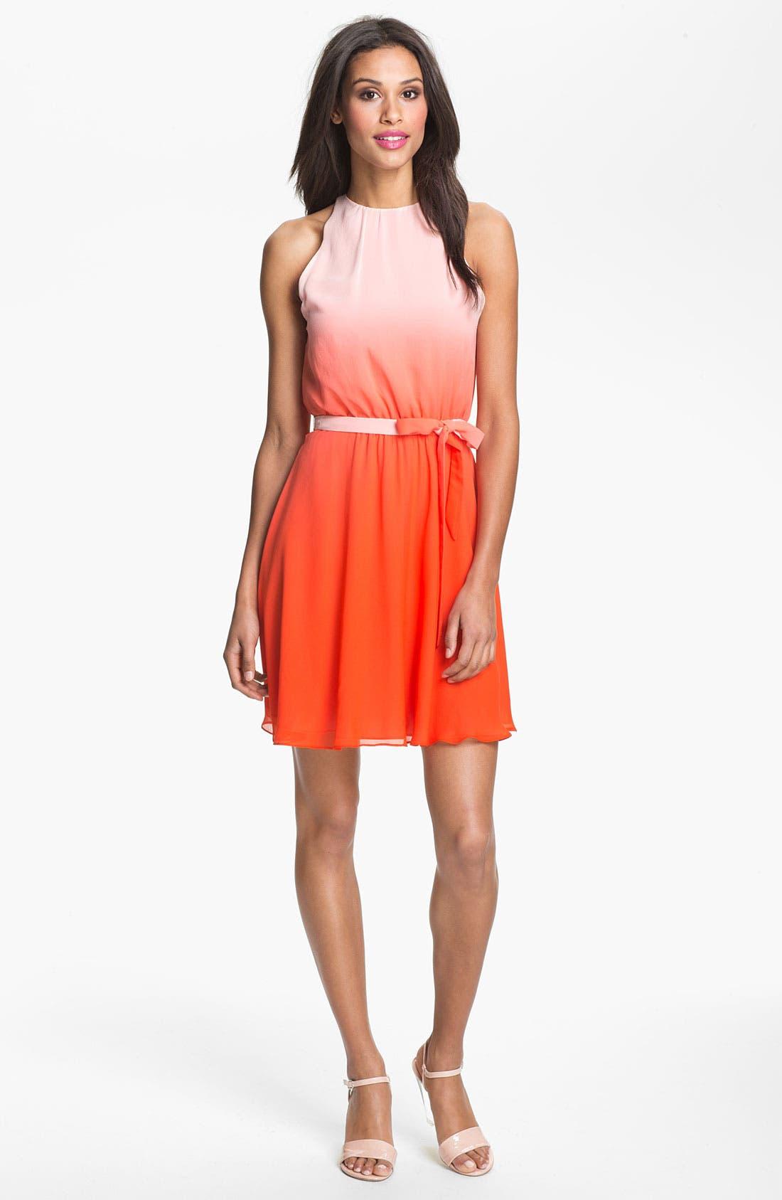 Main Image - ERIN erin fetherston Ombré Silk Chiffon Dress