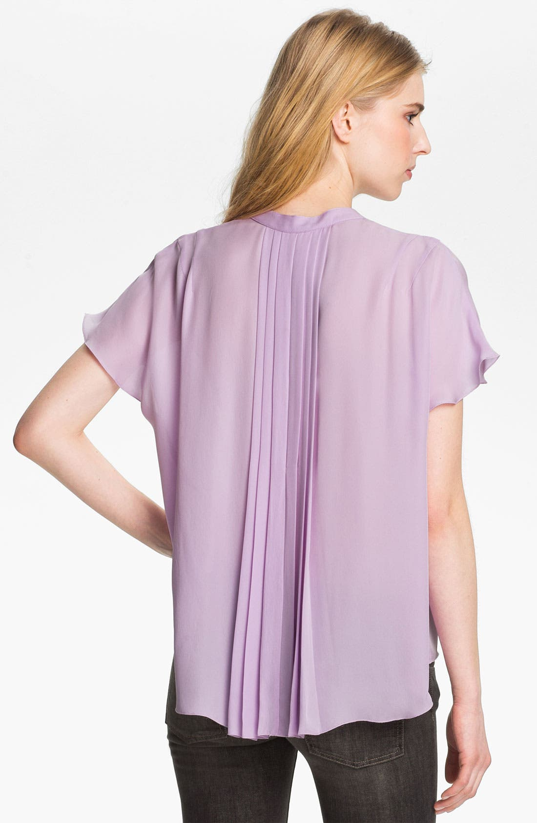 Alternate Image 3  - L'AGENCE Pleated Silk Blouse