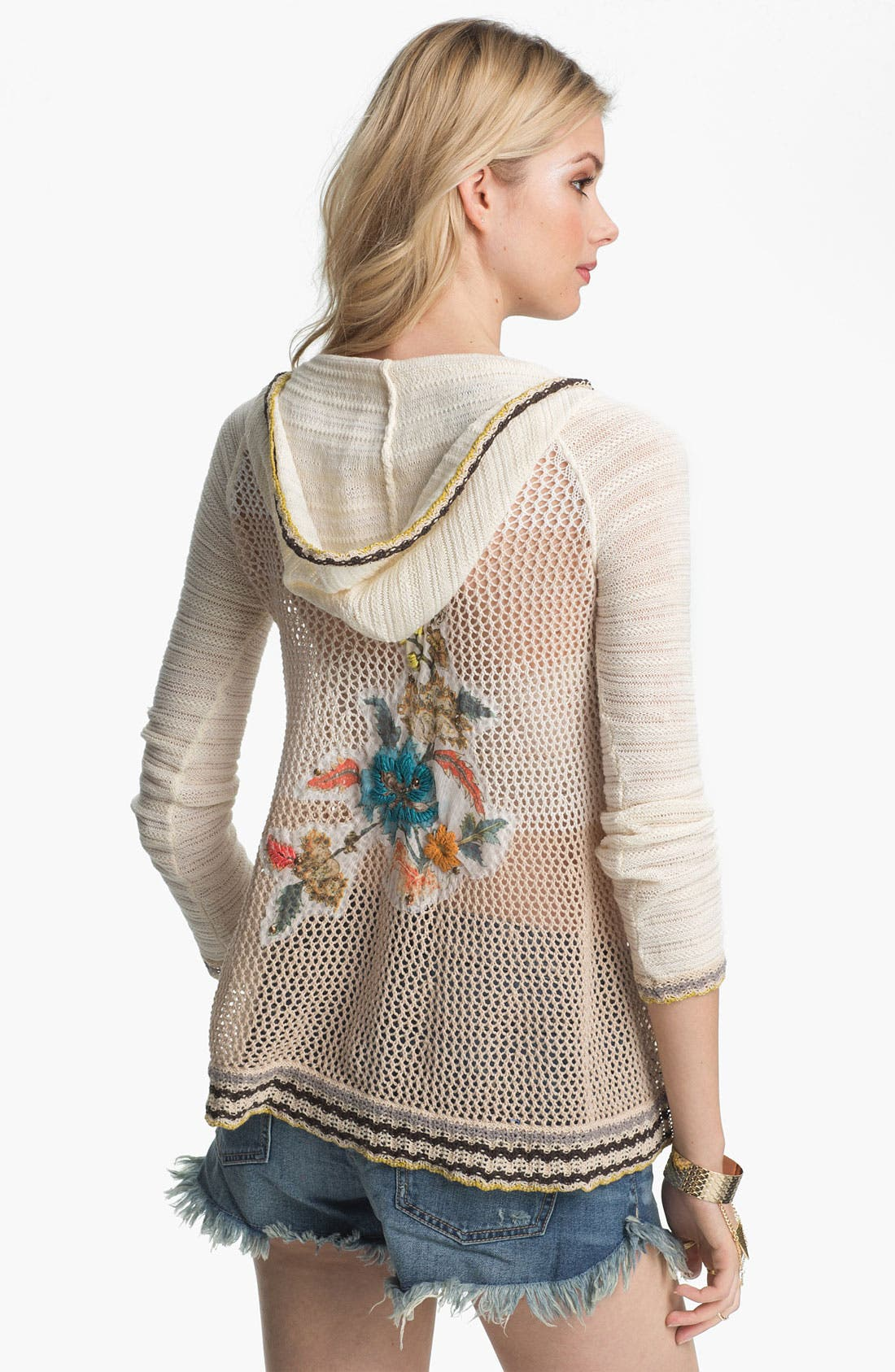 Alternate Image 2  - Free People 'Menagerie' Embroidered Crochet Sweater