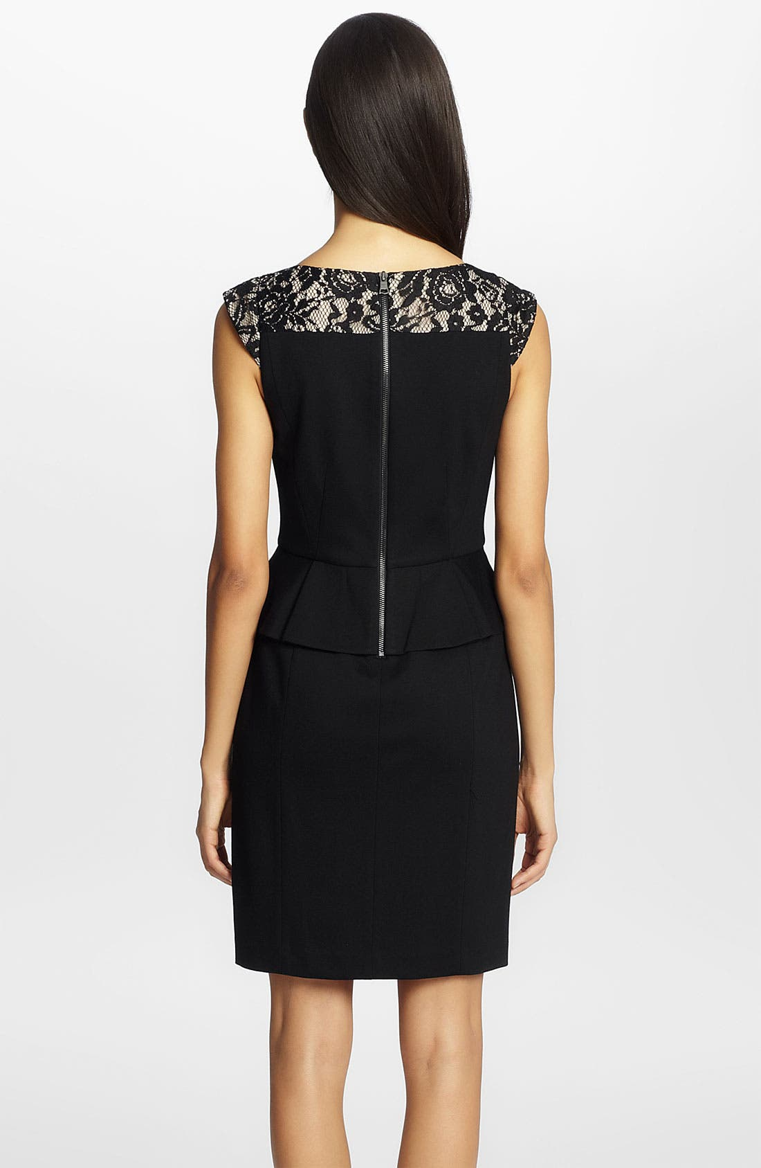 Alternate Image 2  - Cynthia Steffe 'Dylan' Lace Yoke Peplum Sheath Dress