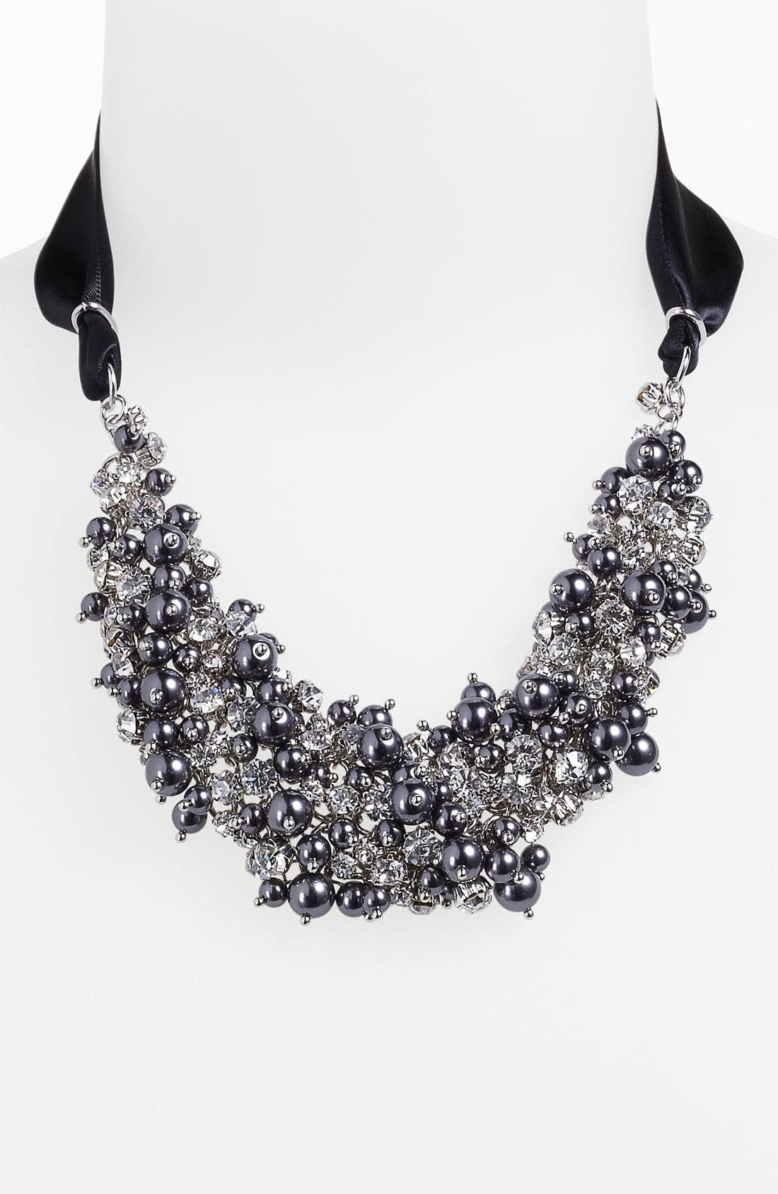Alternate Image 1 Selected - Nina 'Melaney' Ribbon & Cluster Bib Necklace