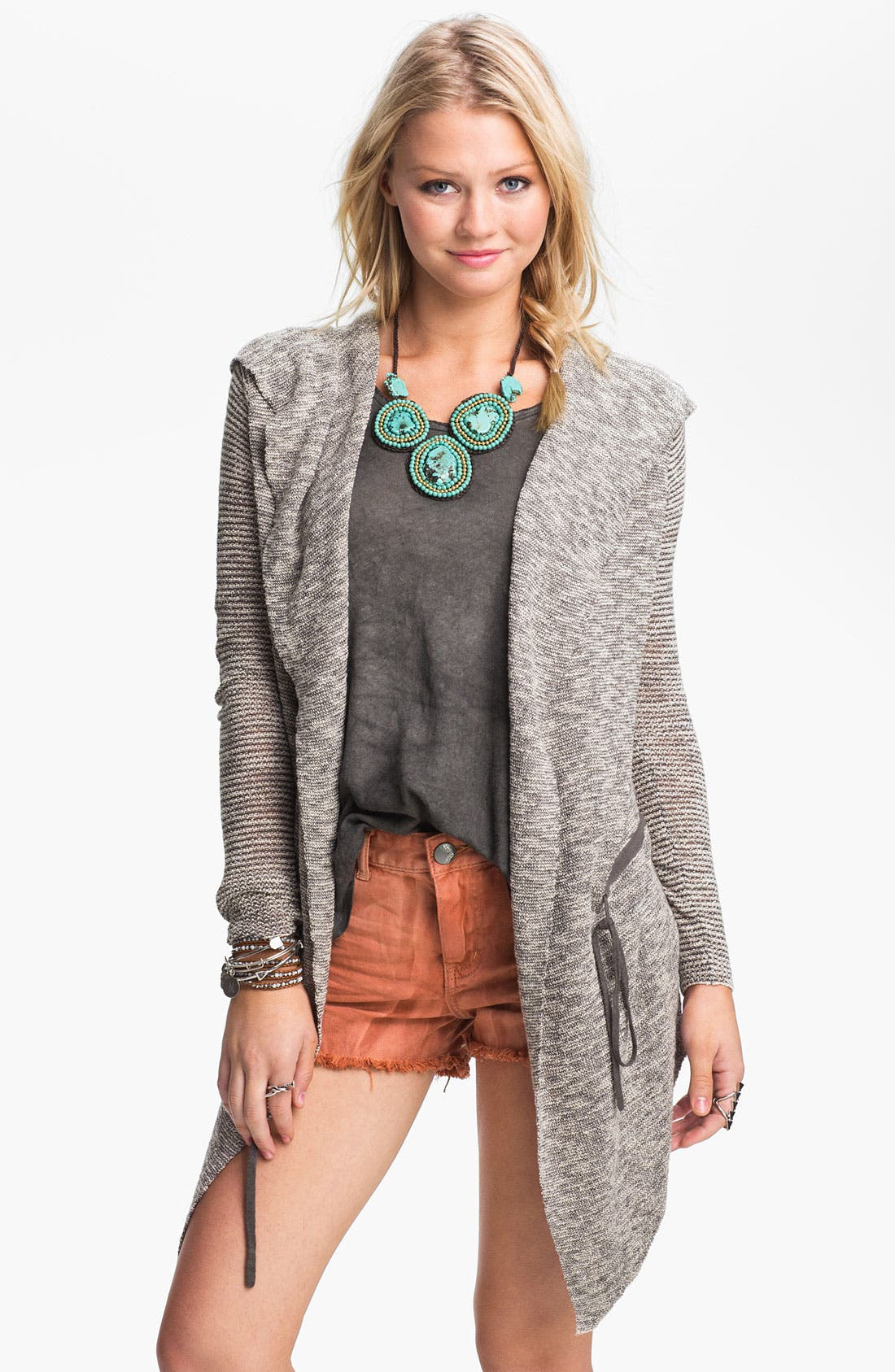 Alternate Image 1 Selected - Free People 'For Keeps' Hooded Cardigan